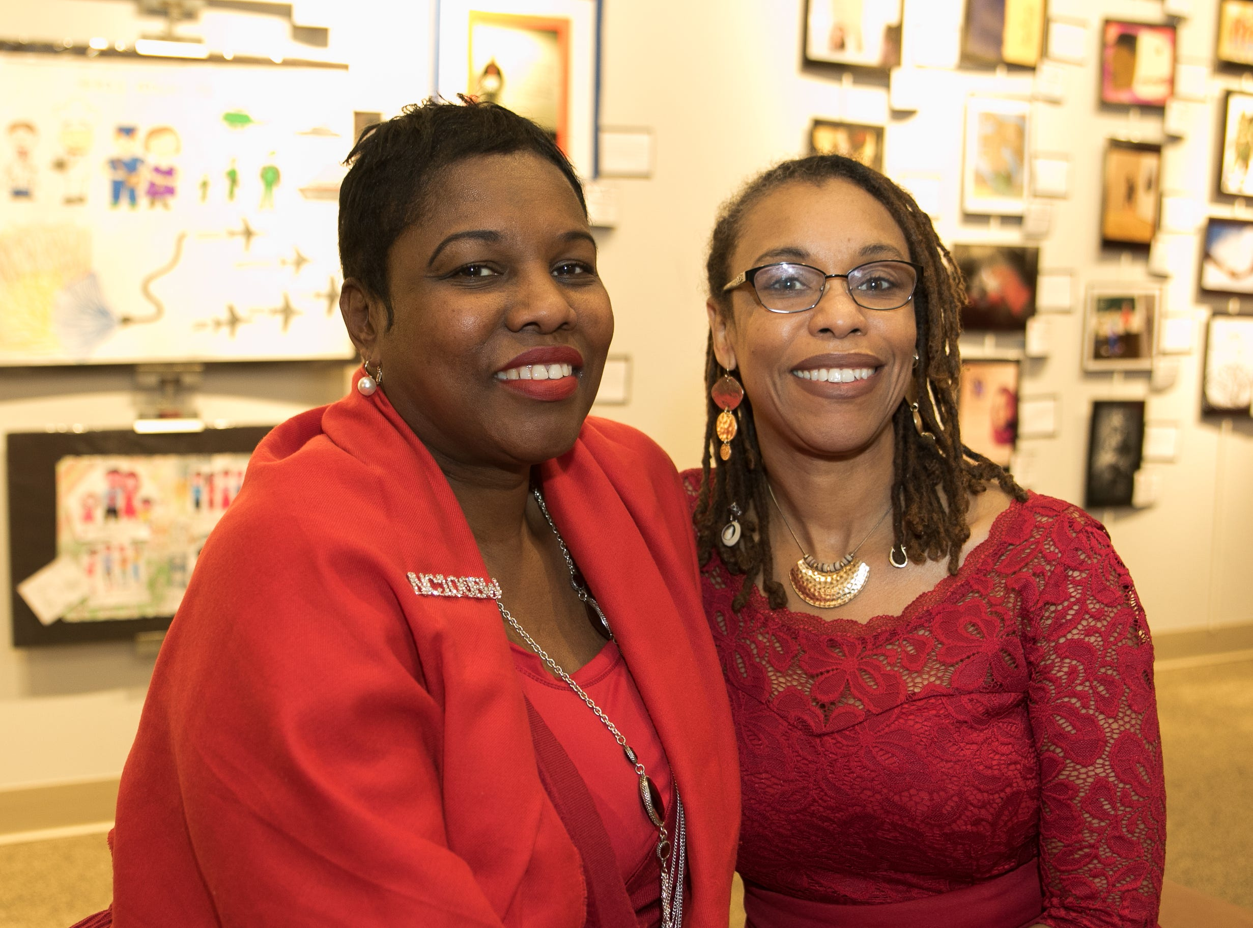 Cynthia Patterson, Judi Ramos. The National Coalition of Black Women of Bergen and Passaic Counties held its annual Heart Healthy Go Red Event at The Hackensack Performing Arts Theater. 02/01/2019