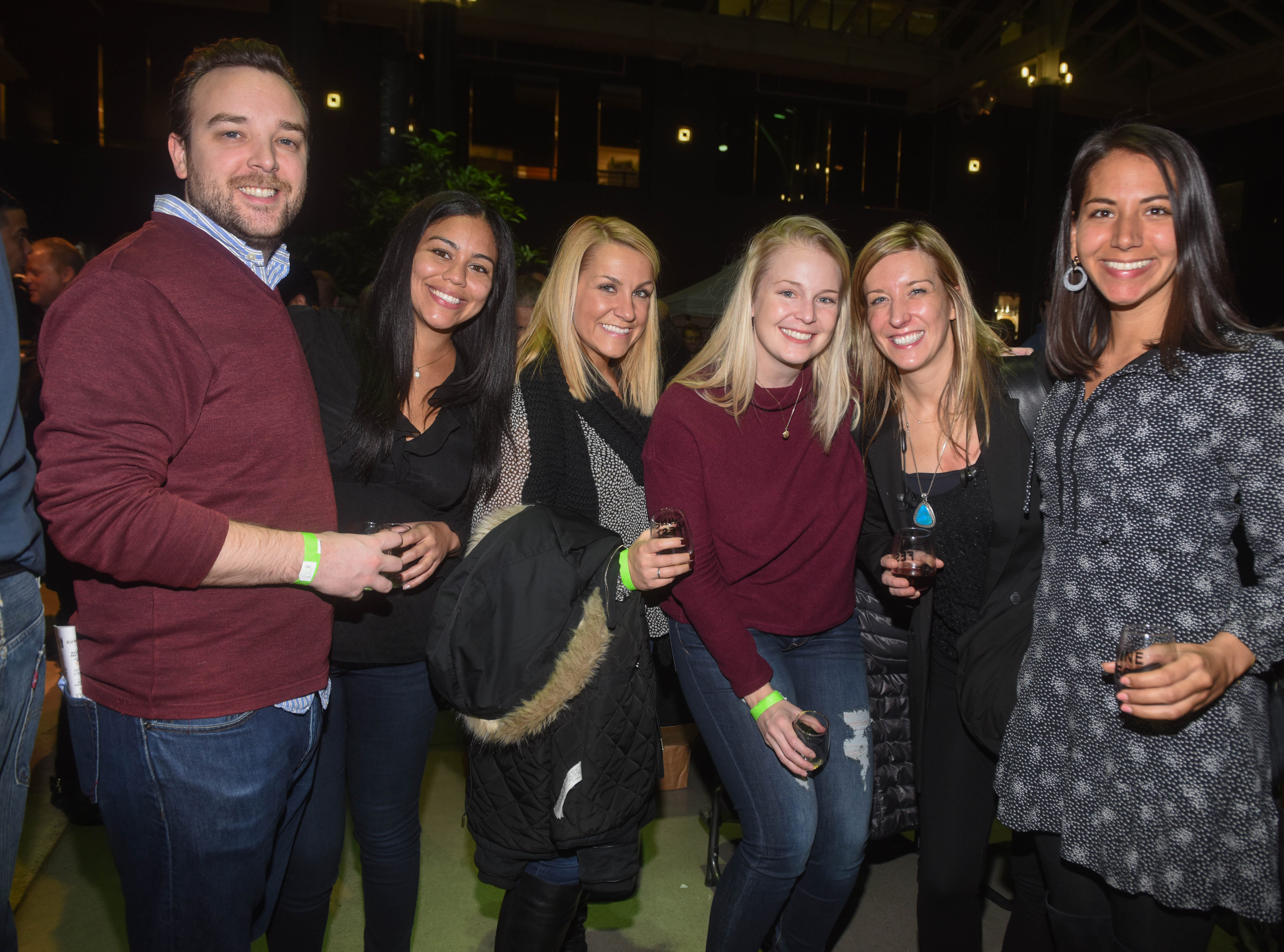 Sean, Laura, Gwen, Erin, Amanda and Lauren. Jersey City Whiskey Fest was held at Harborside Atrium. The event featured over 100 styles of whiskey and spirits. 02/01/2019