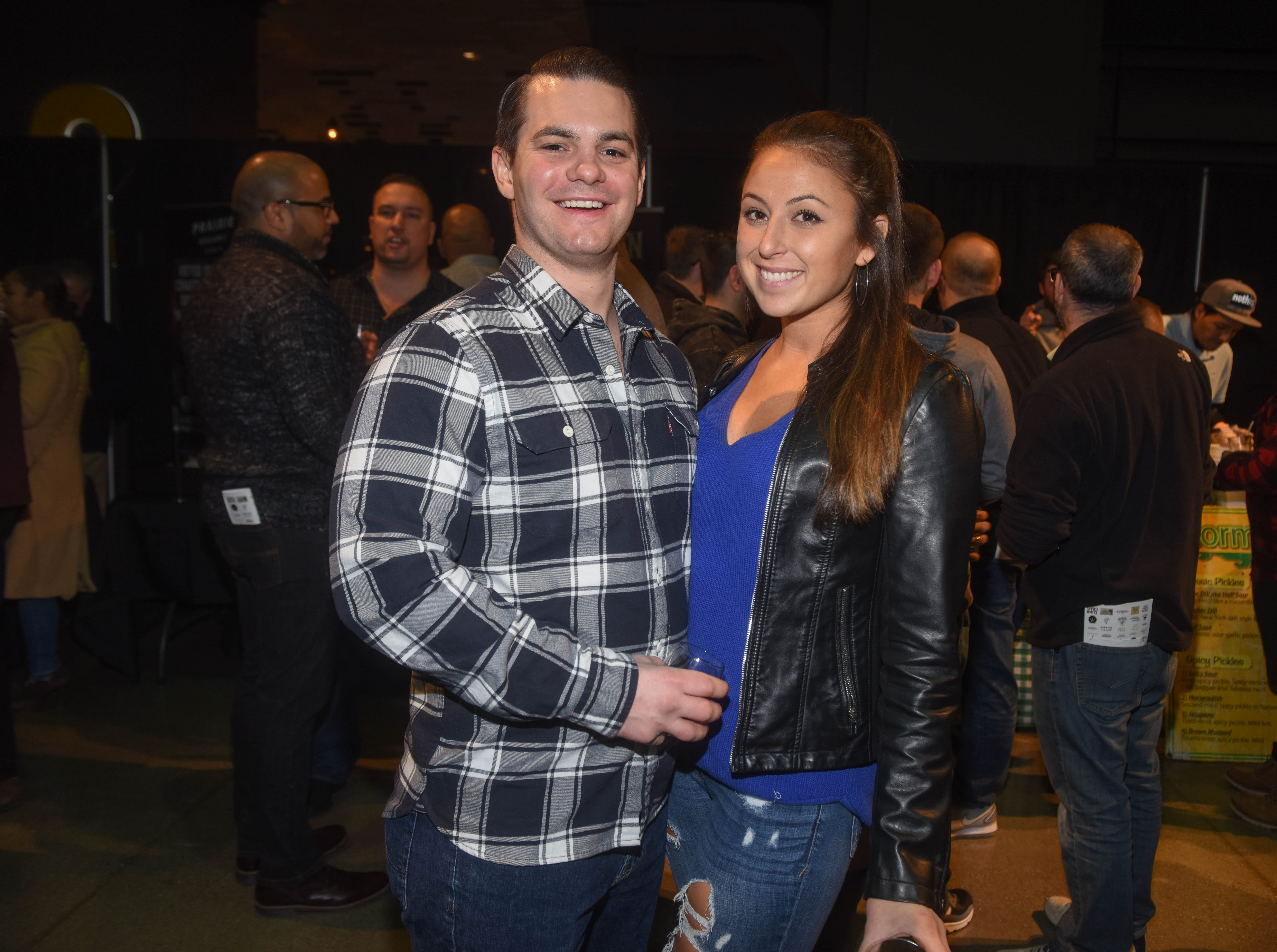 Collin and Kristen. Jersey City Whiskey Fest was held at Harborside Atrium. The event featured over 100 styles of whiskey and spirits. 02/01/2019