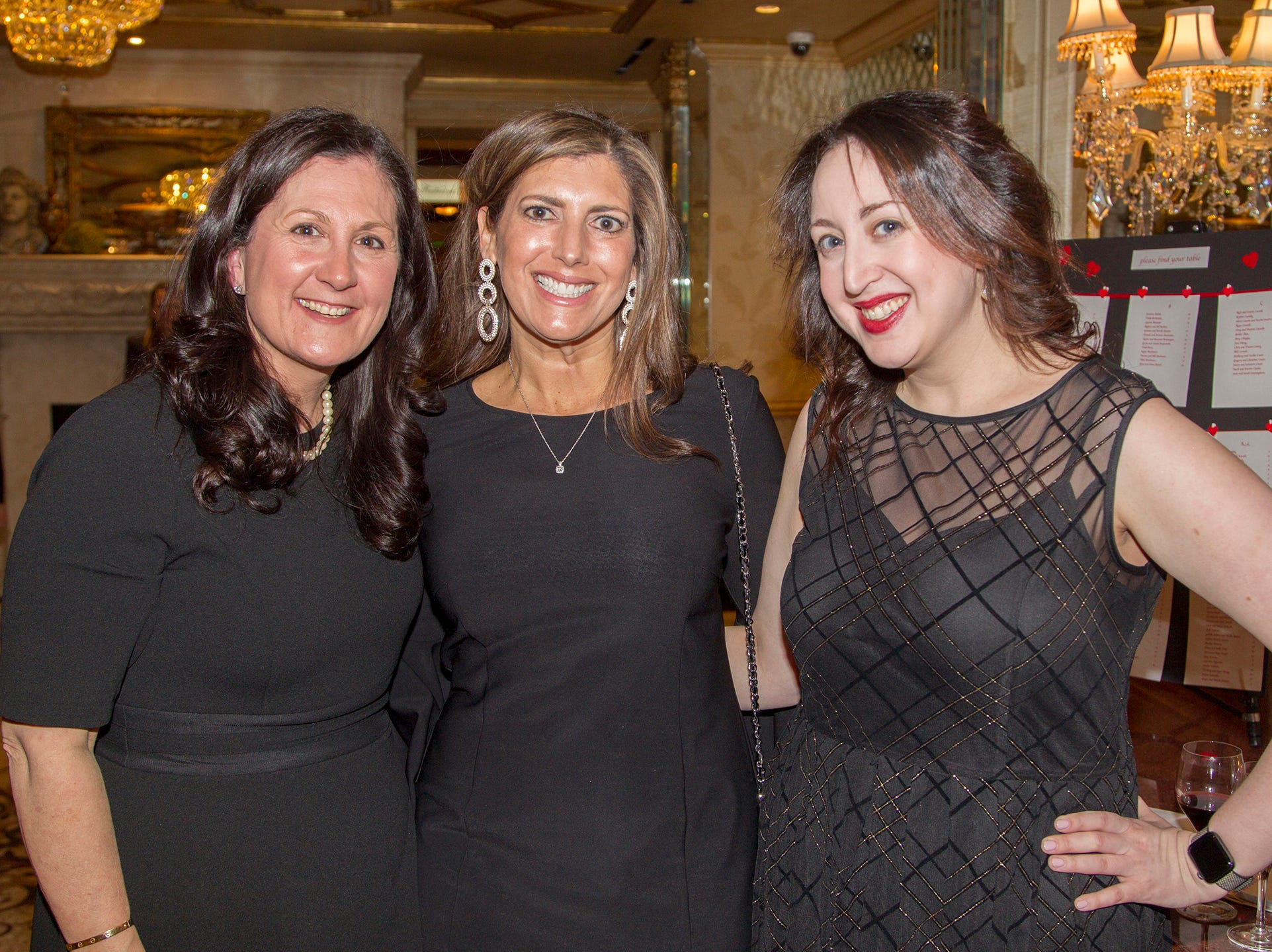 Christine Favaro, Lori Abbate, Kate Fisher. Institute for Educational Achievement (IEA) held its annual Dinner Dance at Seasons in Washington Township. 02/02/2019