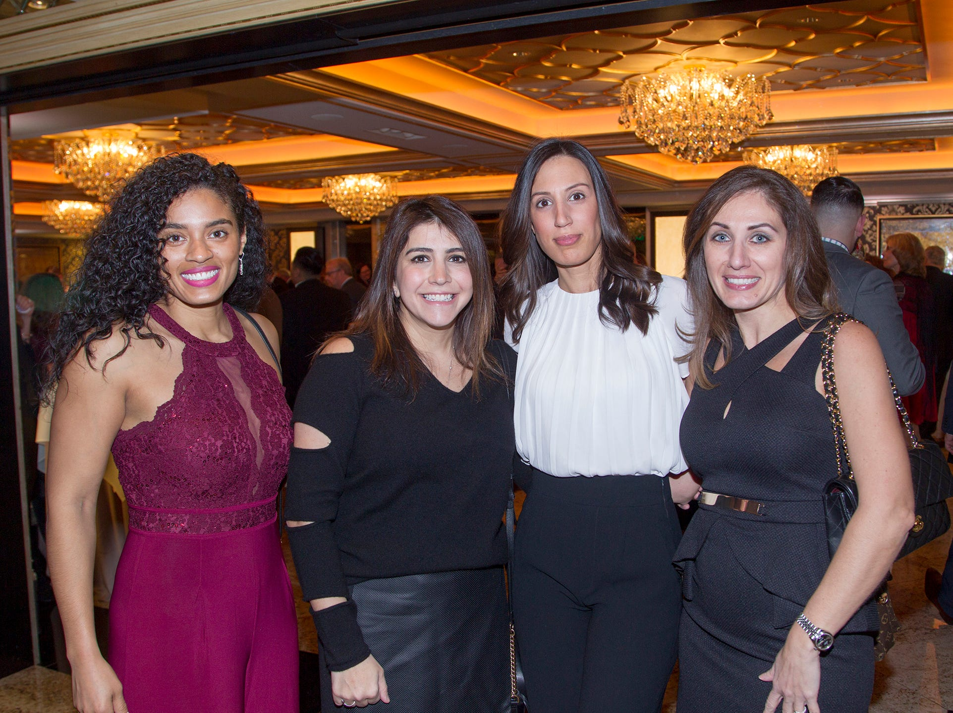Evete Morales, Martine Adamo, Susanne Baheo, Shani Shabo. Institute for Educational Achievement (IEA) held its annual Dinner Dance at Seasons in Washington Township. 02/02/2019
