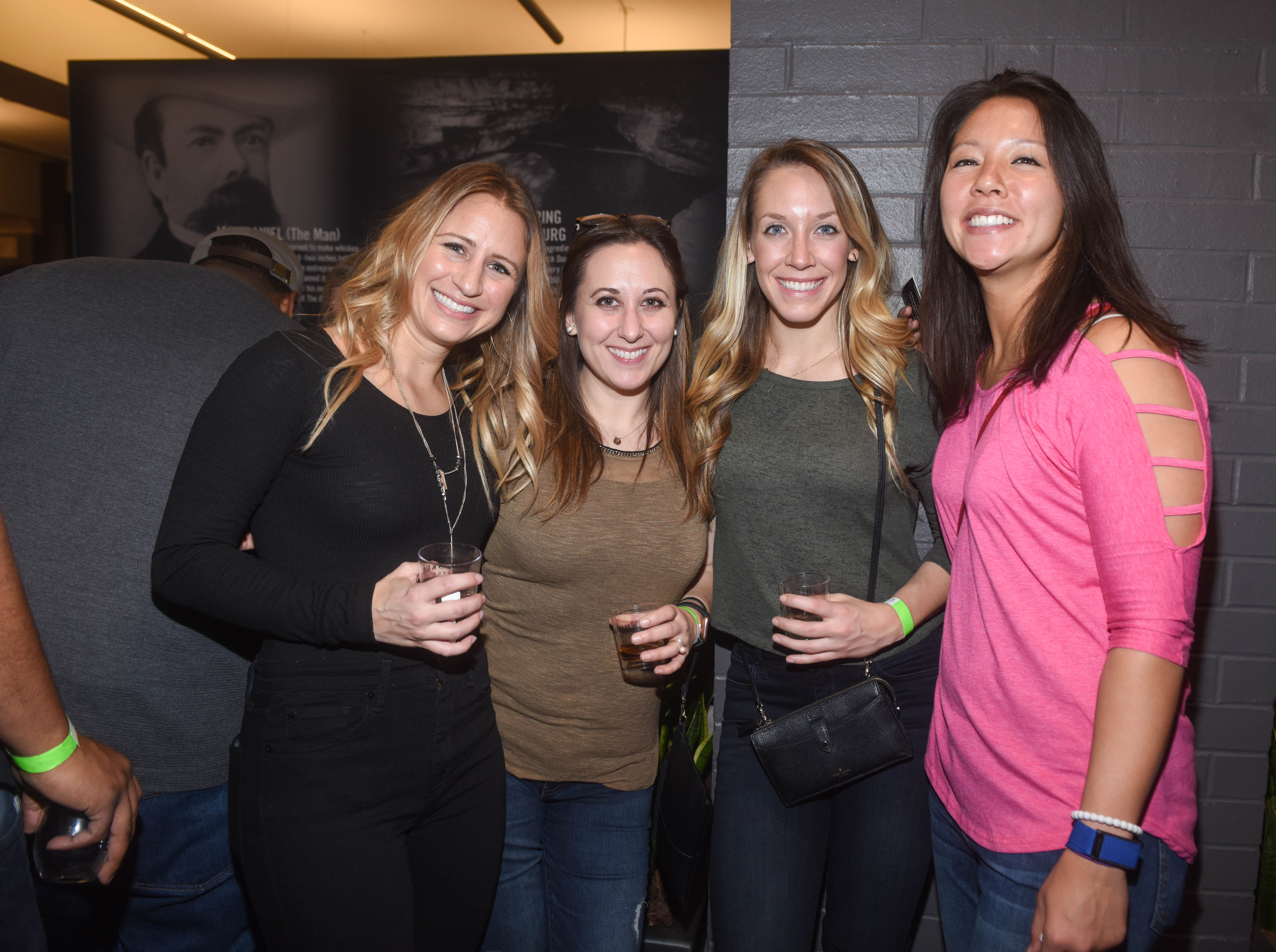 Brooke, Katie, Stephanie and Allison. Jersey City Whiskey Fest was held at Harborside Atrium. The event featured over 100 styles of whiskey and spirits. 02/01/2019