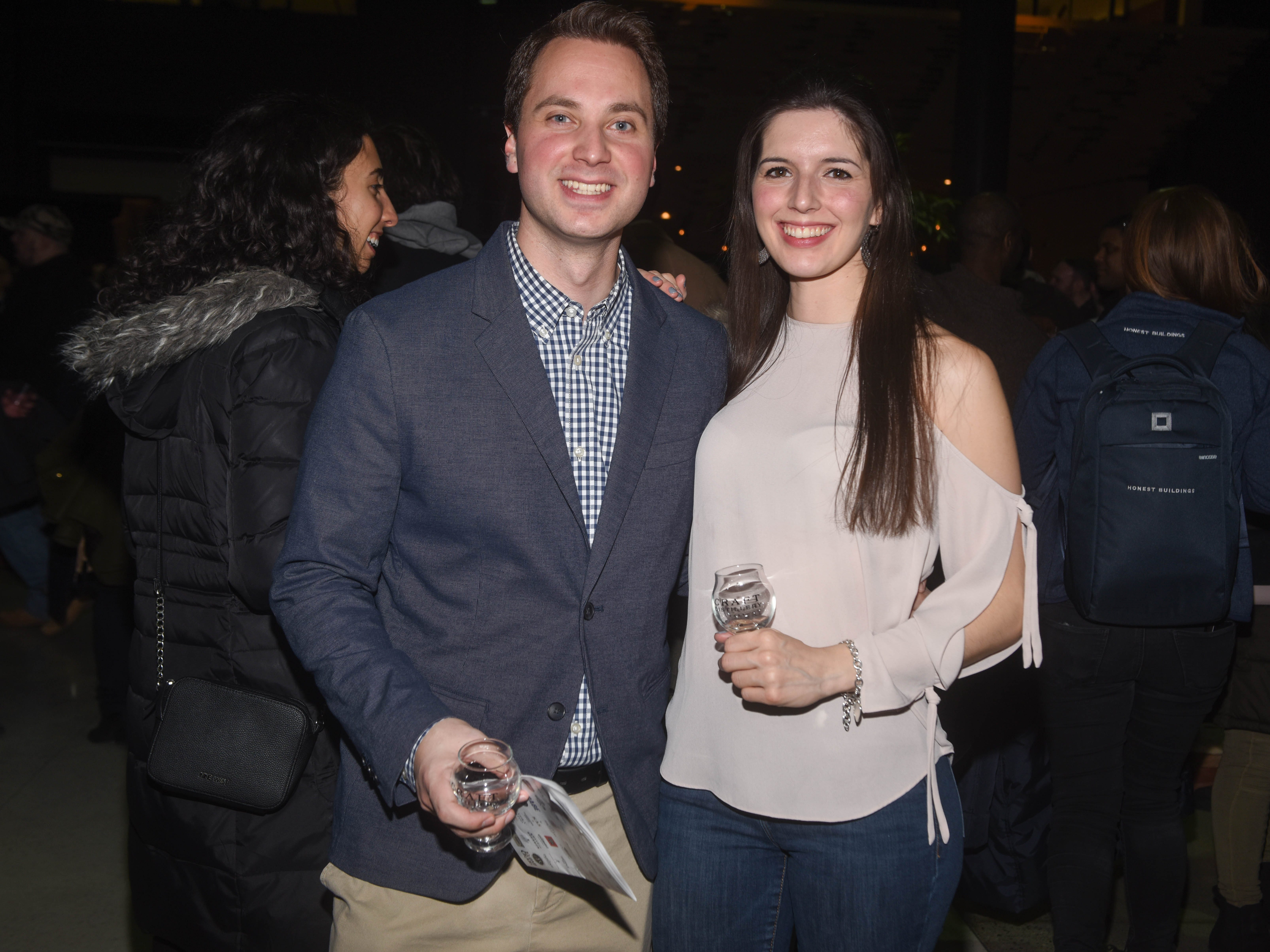 Chris and Tracey. Jersey City Whiskey Fest was held at Harborside Atrium. The event featured over 100 styles of whiskey and spirits. 02/01/2019