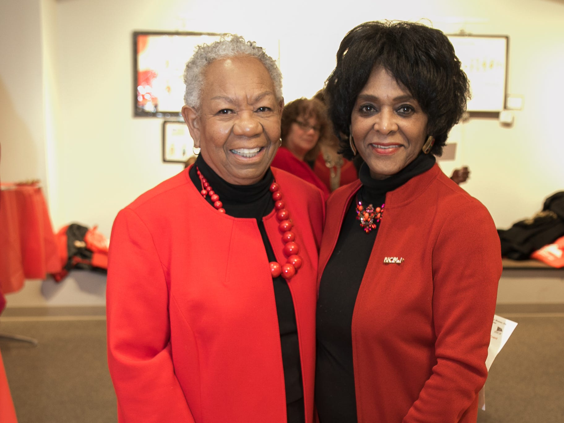 Rev. Dr. Edna Dismus, Jeanette Curtis-Rideau- Charter Member. The National Coalition of Black Women of Bergen and Passaic Counties held its annual Heart Healthy Go Red Event at The Hackensack Performing Arts Theater. 02/01/2019