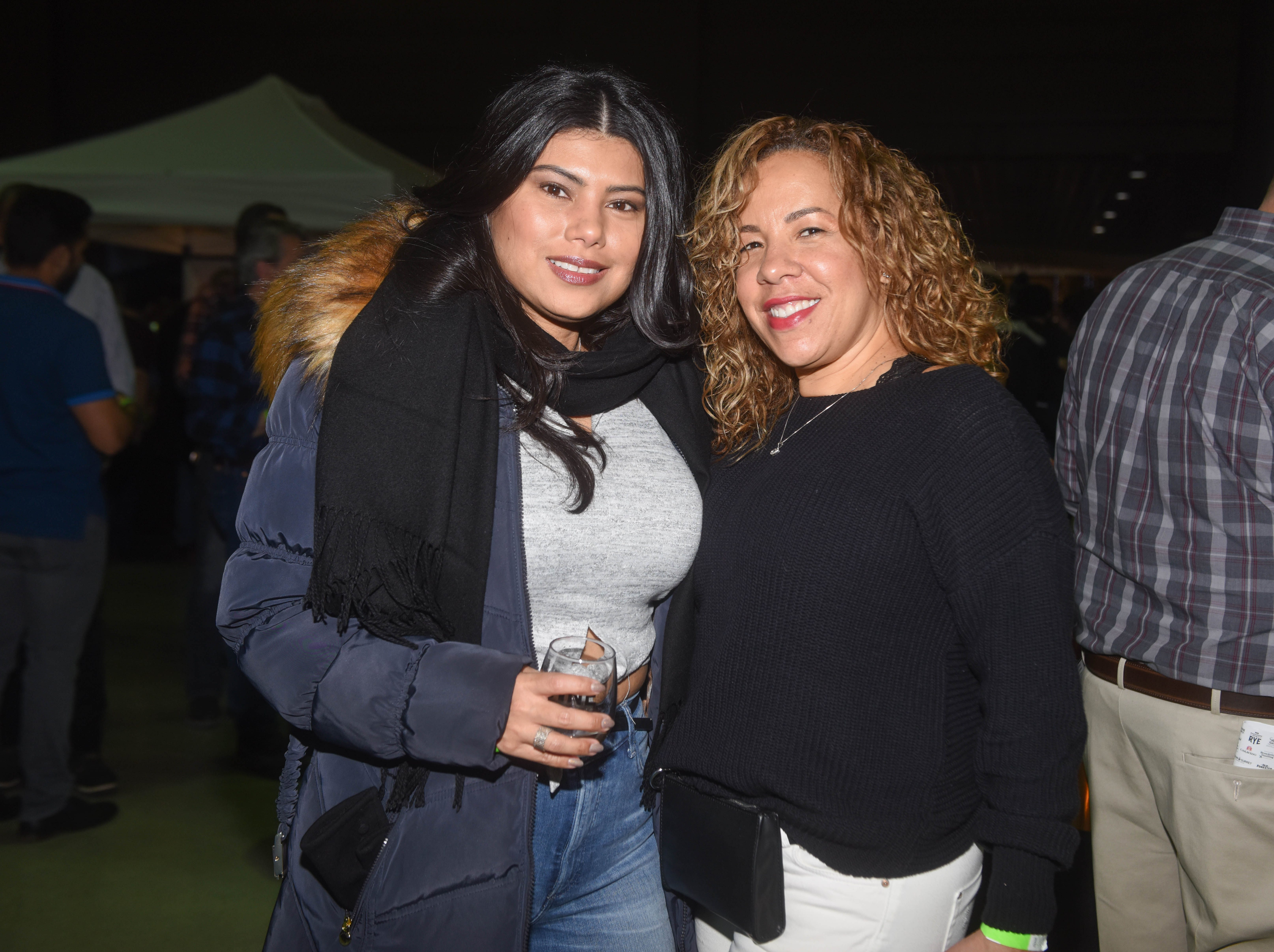 Fey and Ofe. Jersey City Whiskey Fest was held at Harborside Atrium. The event featured over 100 styles of whiskey and spirits. 02/01/2019