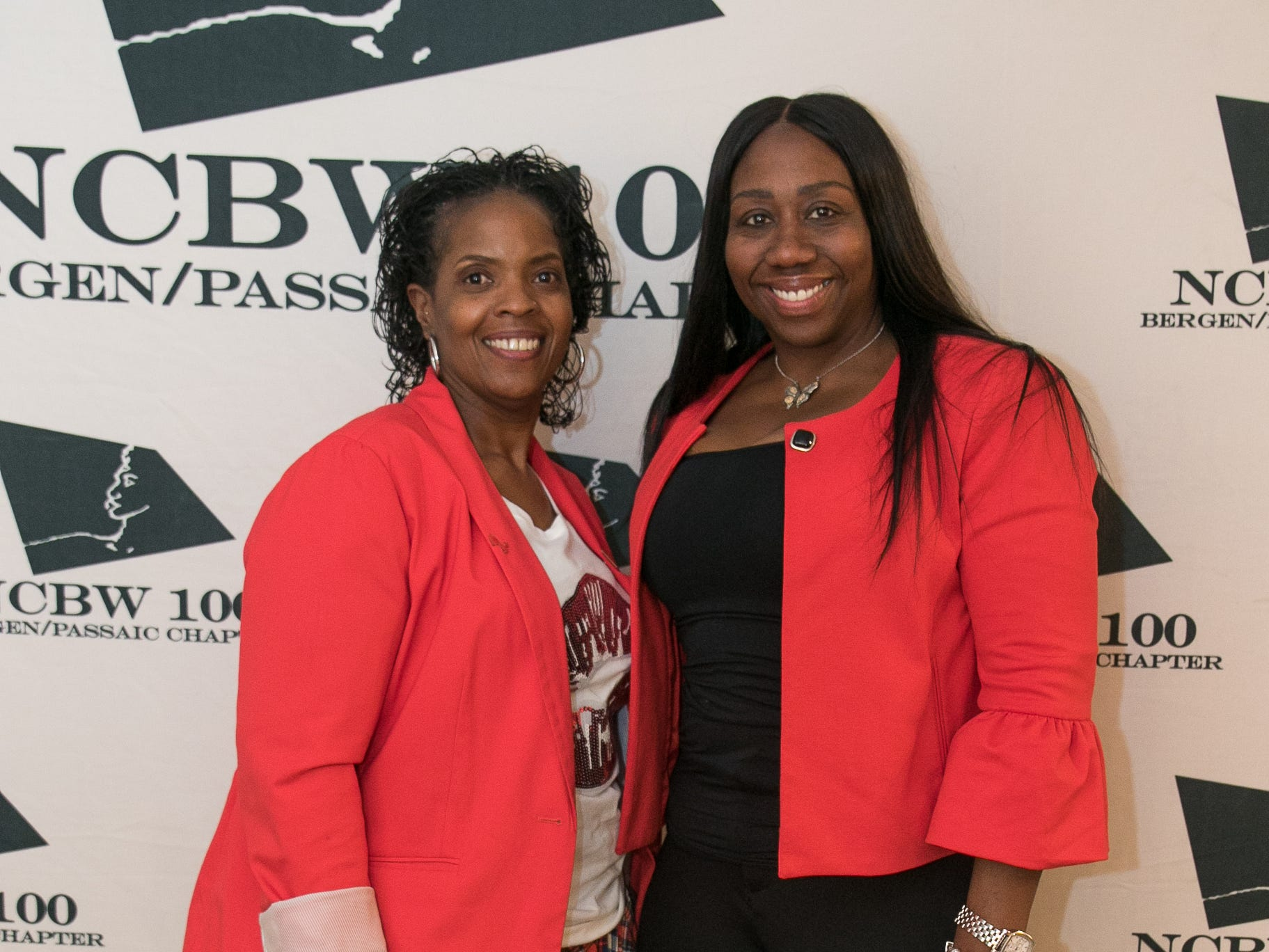 Karen Lawson, Carol Sutton. The National Coalition of Black Women of Bergen and Passaic Counties held its annual Heart Healthy Go Red Event at The Hackensack Performing Arts Theater. 02/01/2019