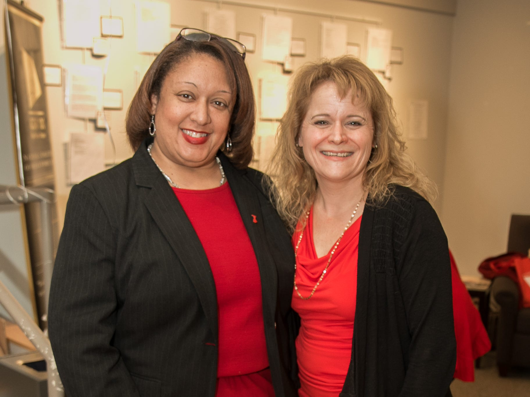 Re. Tami Henry, Carlene Gordon. The National Coalition of Black Women of Bergen and Passaic Counties held its annual Heart Healthy Go Red Event at The Hackensack Performing Arts Theater. 02/01/2019