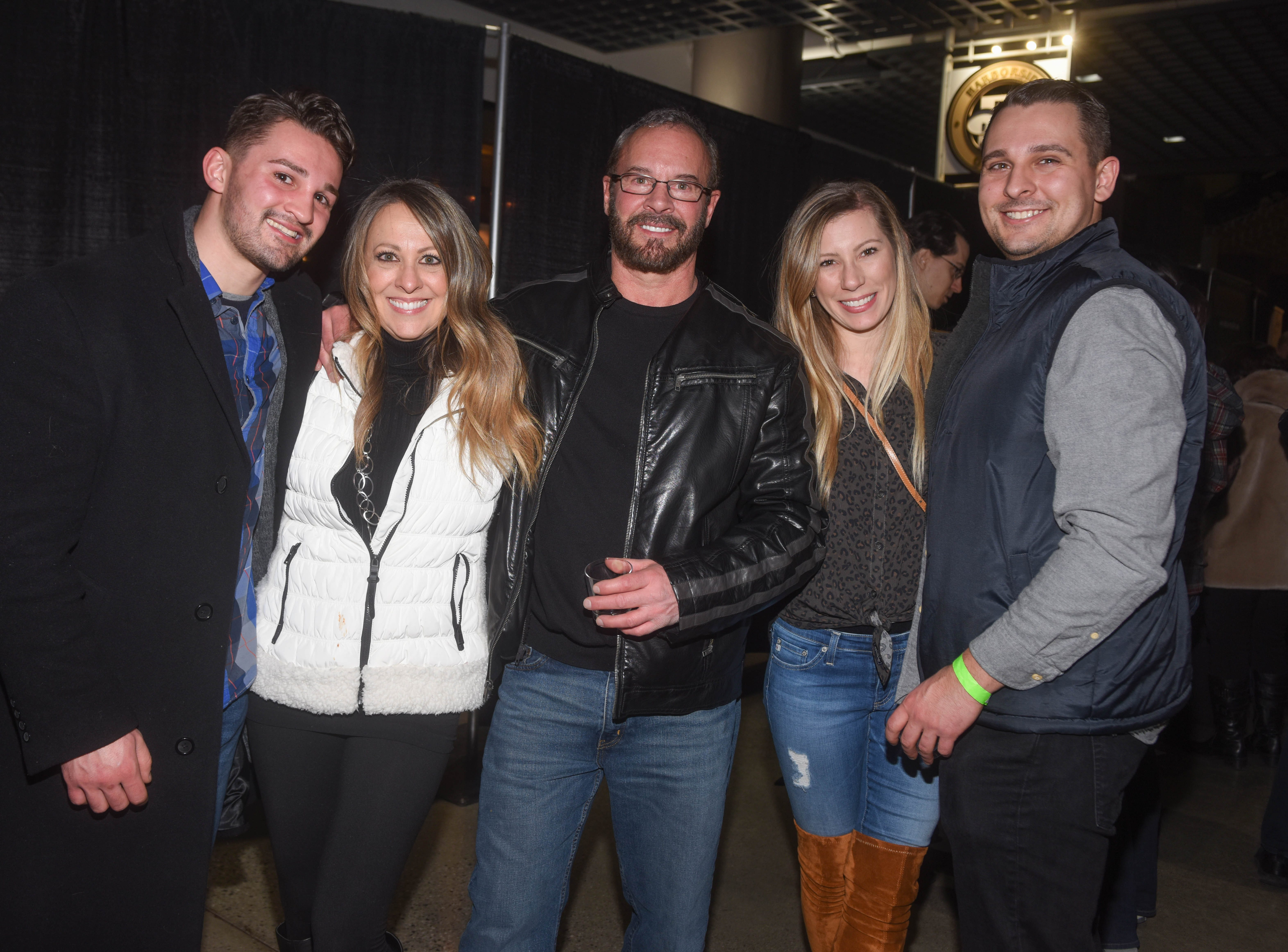 Gregg, Cheryl, Gregg Sr., Carla and Vincent. Jersey City Whiskey Fest was held at Harborside Atrium. The event featured over 100 styles of whiskey and spirits. 02/01/2019