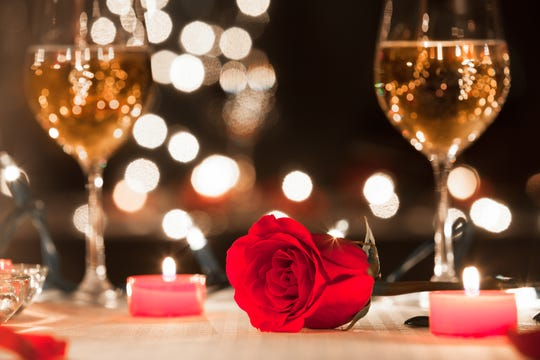 Romantic dinners and dances are a plenty for Valentine's weekend and day.