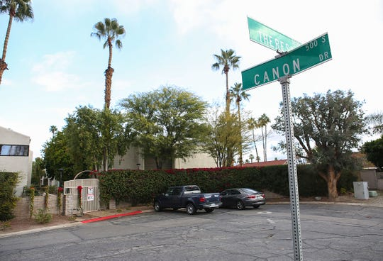 A homicide happened in this area at the intersection of Canon Dr. and Theresa Dr. in Palm Springs, February 4, 2019.