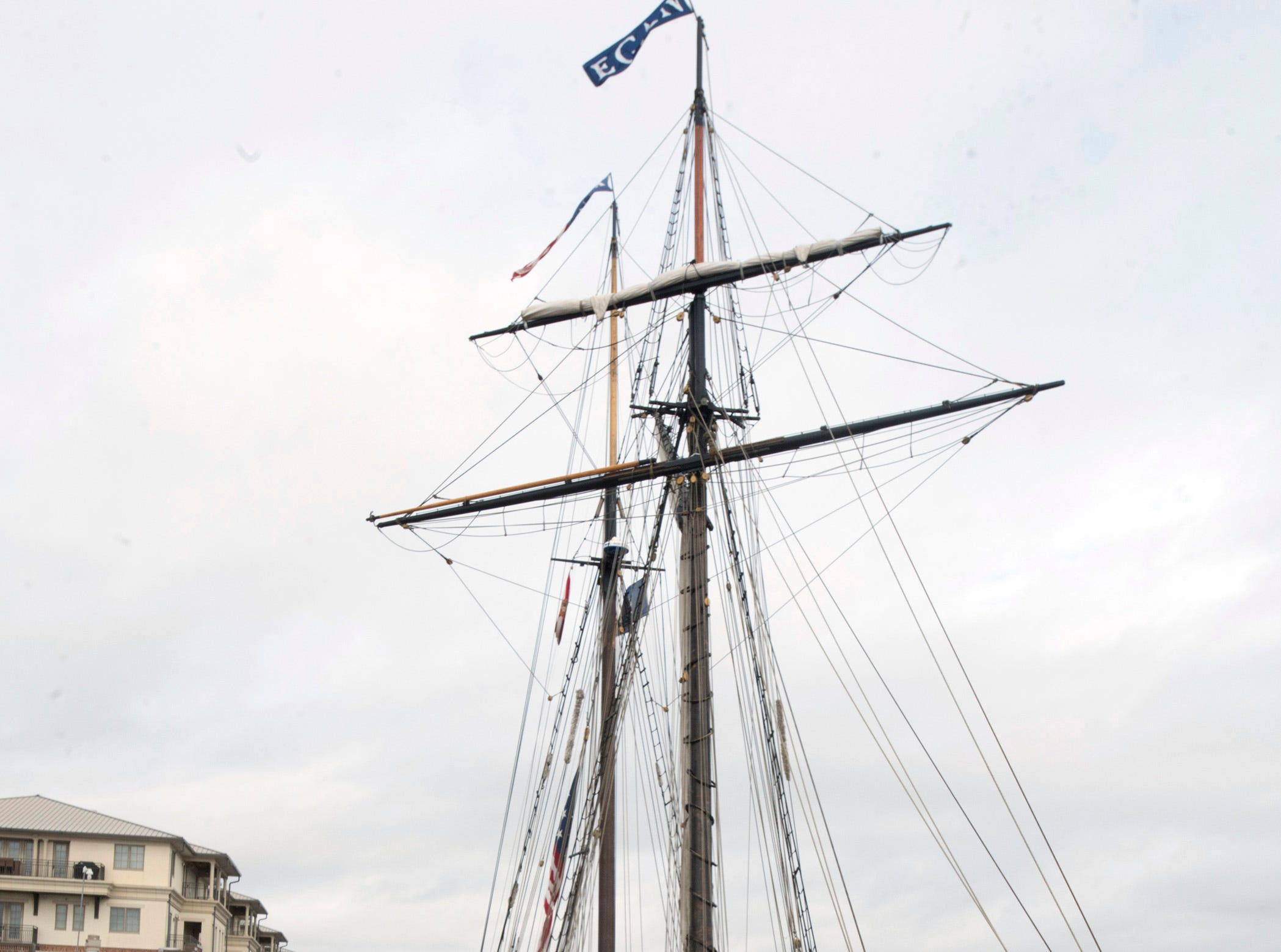 The tall ship Lynx has arrived back in Pensacola. The recreation of a 19th-century schooner was docked in Pensacola along the pier at  Plaza de Luna on Monday, Feb. 4, 2019.  The living history museum will be in City of Five Flags offering tours to the public through March 11.