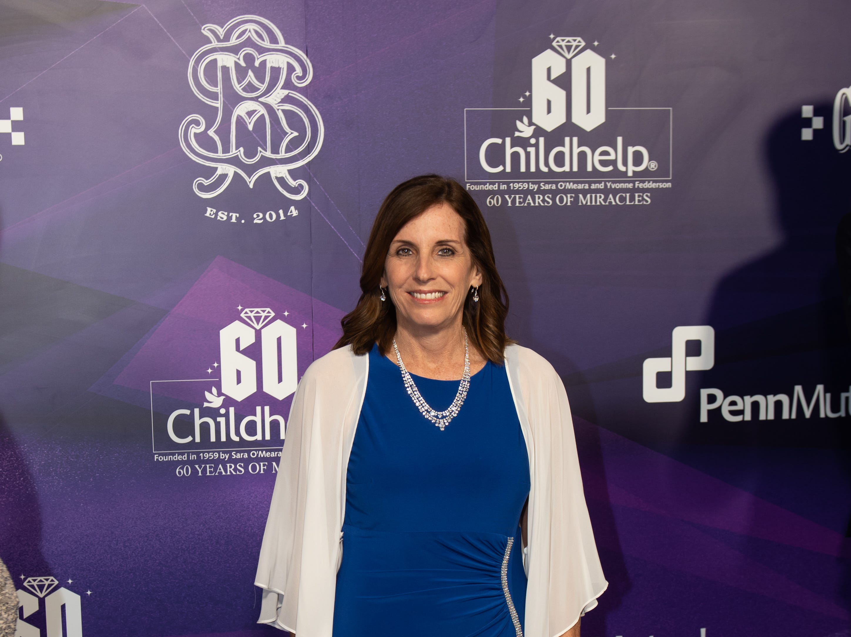 Senator Martha McSally attended the Childhelp Drive the Dream Gala on February 2, 2019.