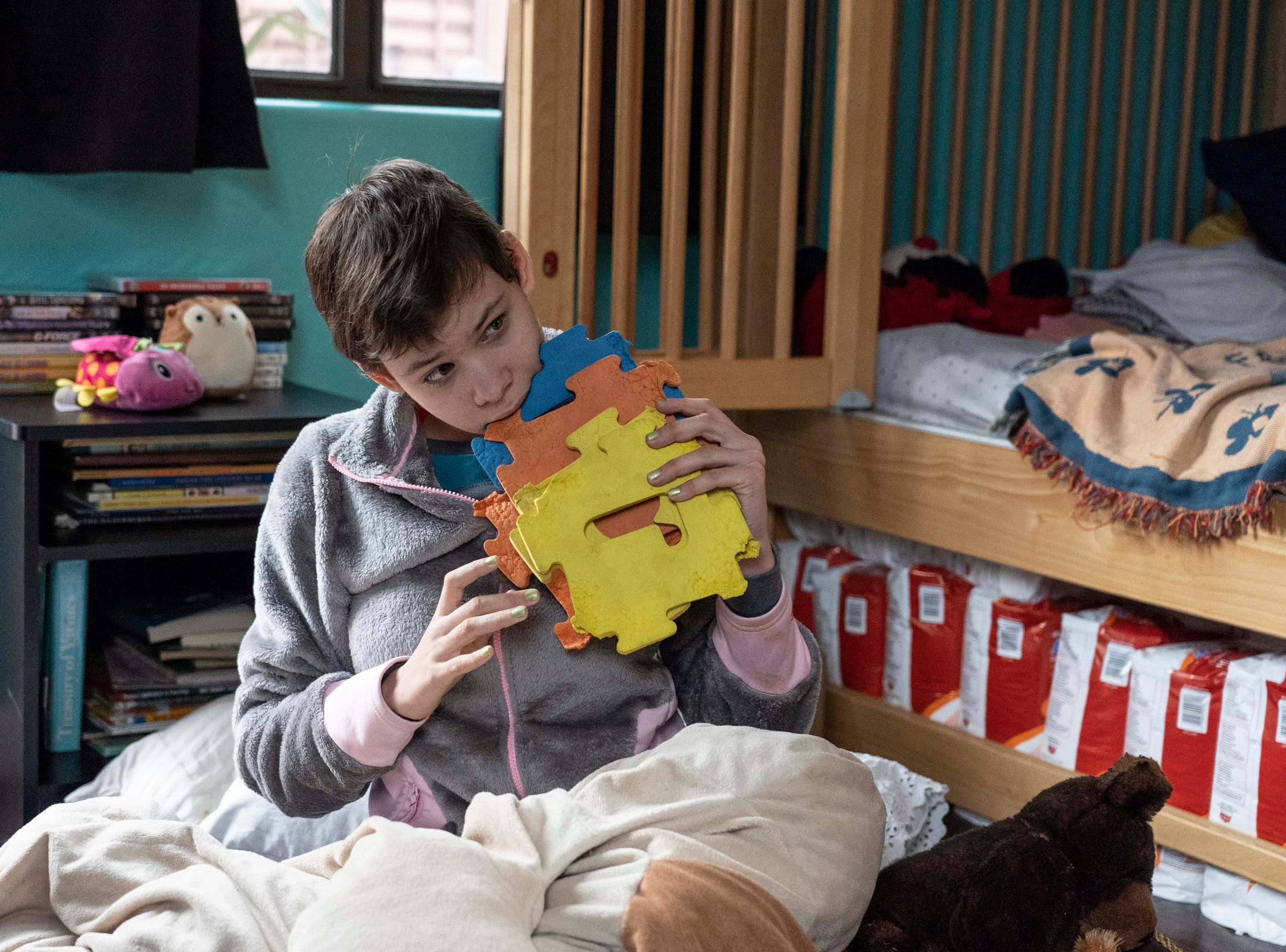 Julianna Wadsack has cerebral palsy, intractable epilepsy syndrome, autism and severe mental retardation. She also has various physical disabiities, including scoliosis, blindness in one eye and limited vision in the other.