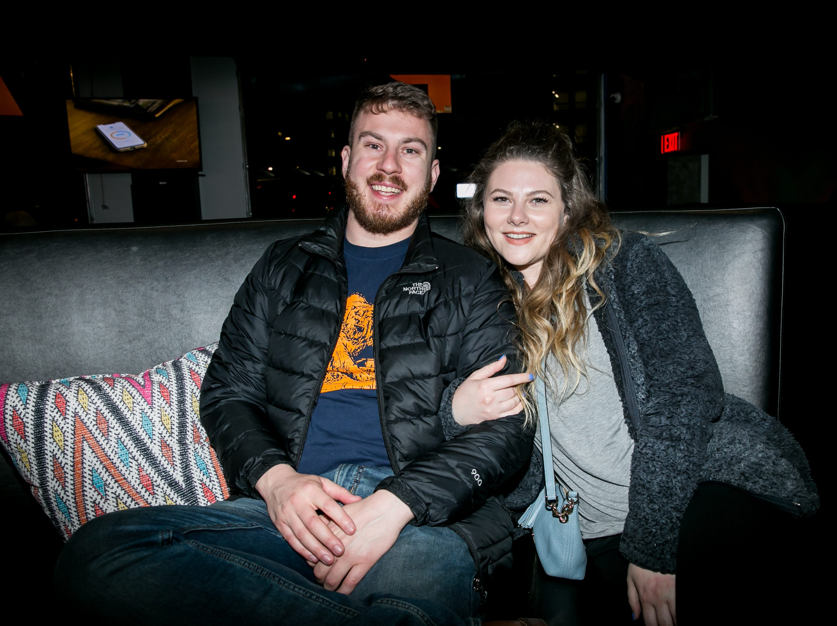 This couple enjoys the festivities during Paz Cantina's Super Bowl Watch Party on Feb. 3, 2019.