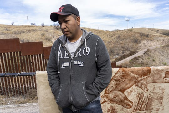 Efrain Javier Gonzalez, 31, in Nogales, Mexico. Gonzalez from Guerrero, fled from violence and extortion. He is with family, plan on asking for asylum at the Nogales port of entry if that does not happen they will try to cross with the help of human smugglers. President Trump is directing asylum seekers to go to the ports, but the metering policy at the ports drives some asylum seekers to cross illegally with the help of smugglers because the waits are so long.