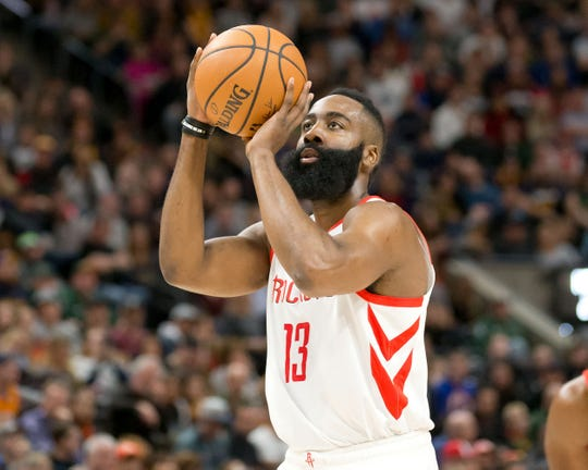 Houston Rockets guard James Harden has scored 30 points or more in the last 26 games, good for the third longest streak in league history.