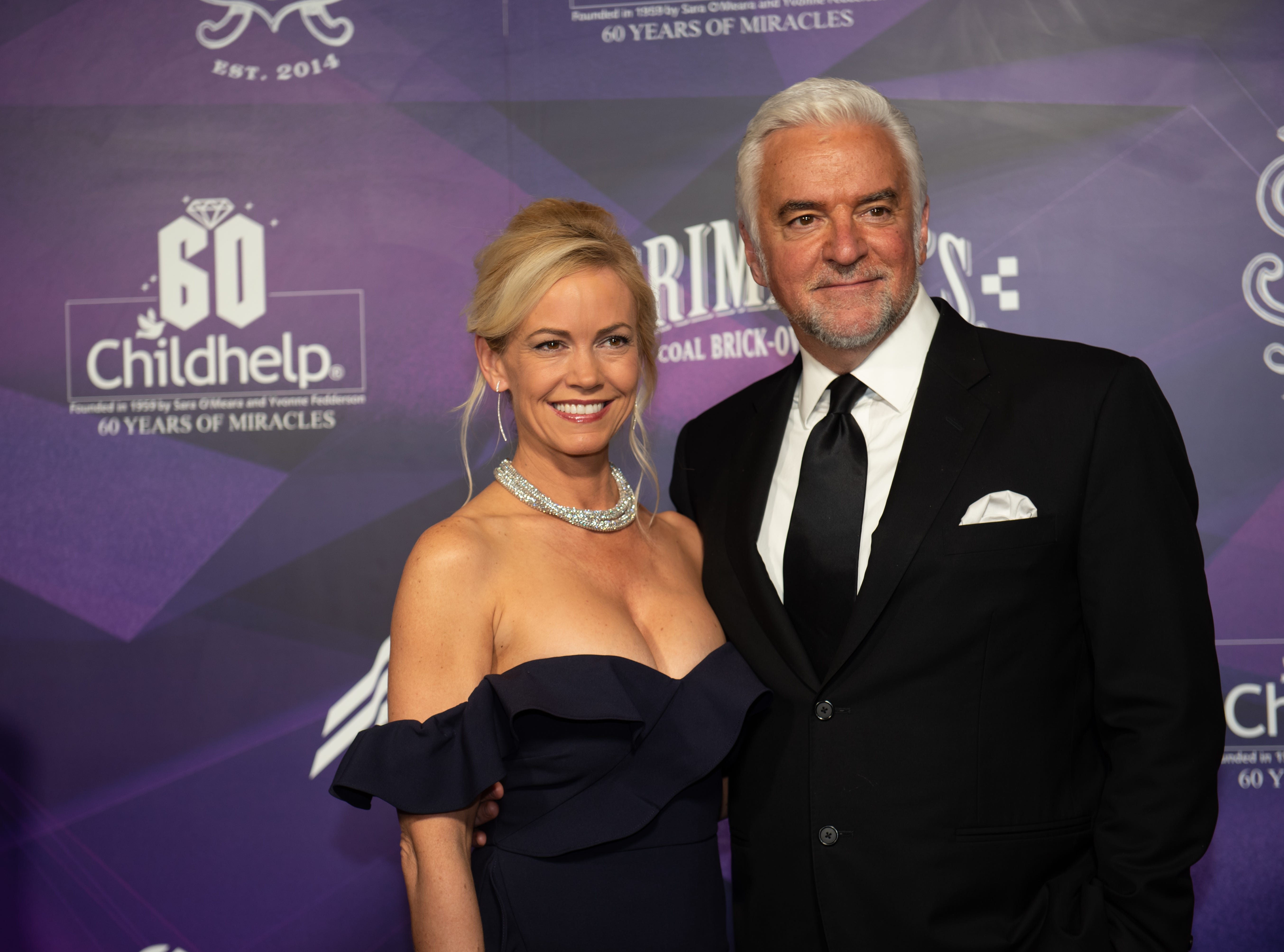 Lisa Mesloh and Childhelp Celebrity Ambassador John O'Hurley attended the Childhelp Drive the Dream Gala on February 2, 2019.
