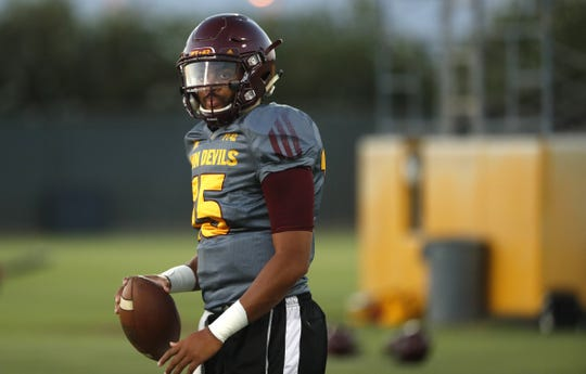 Could Dillon Sterling-Cole (15) be ASU football's quarterback next season?