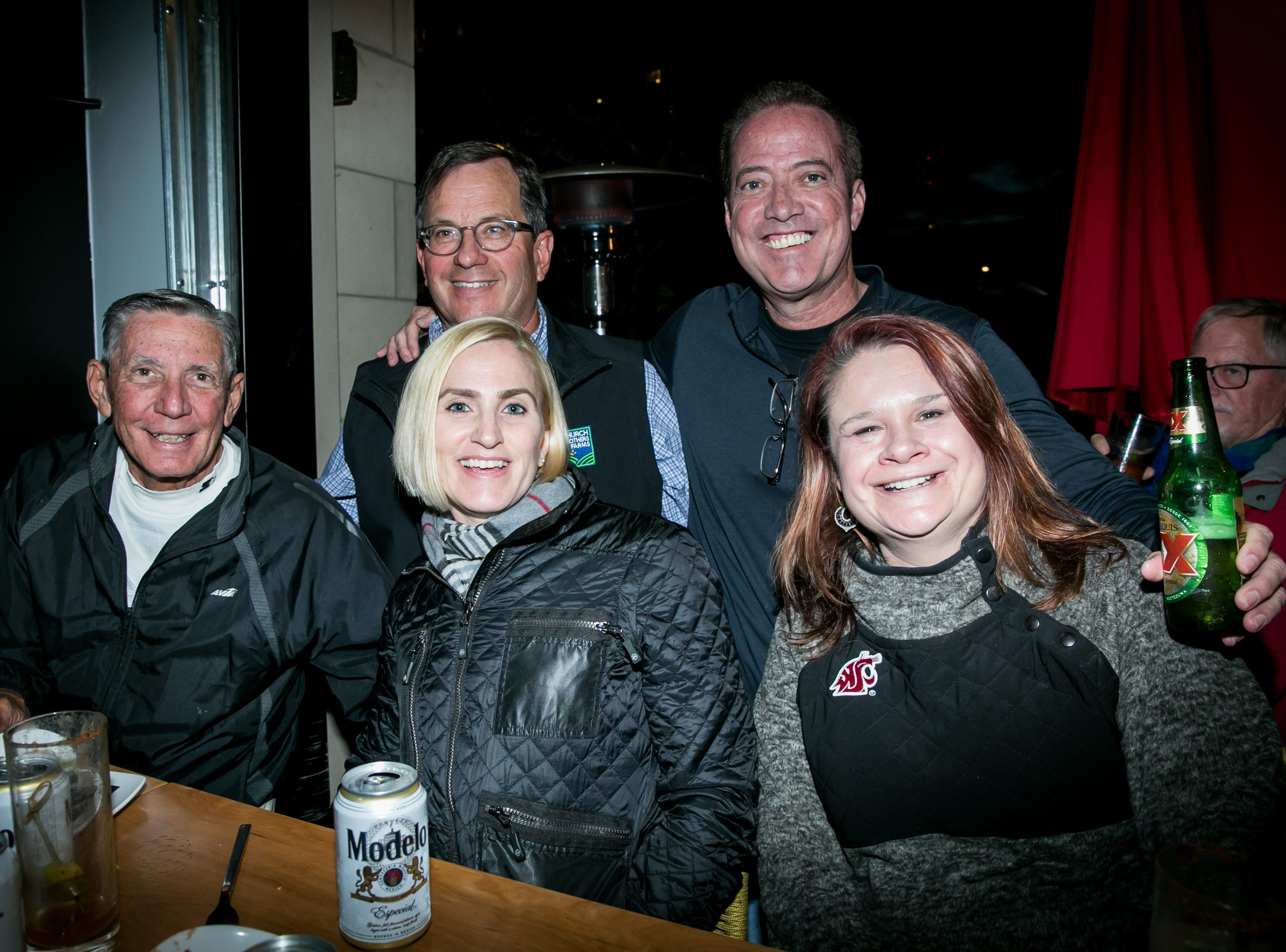 This group has a splendid time during Paz Cantina's Super Bowl Watch Party on Feb. 3, 2019.