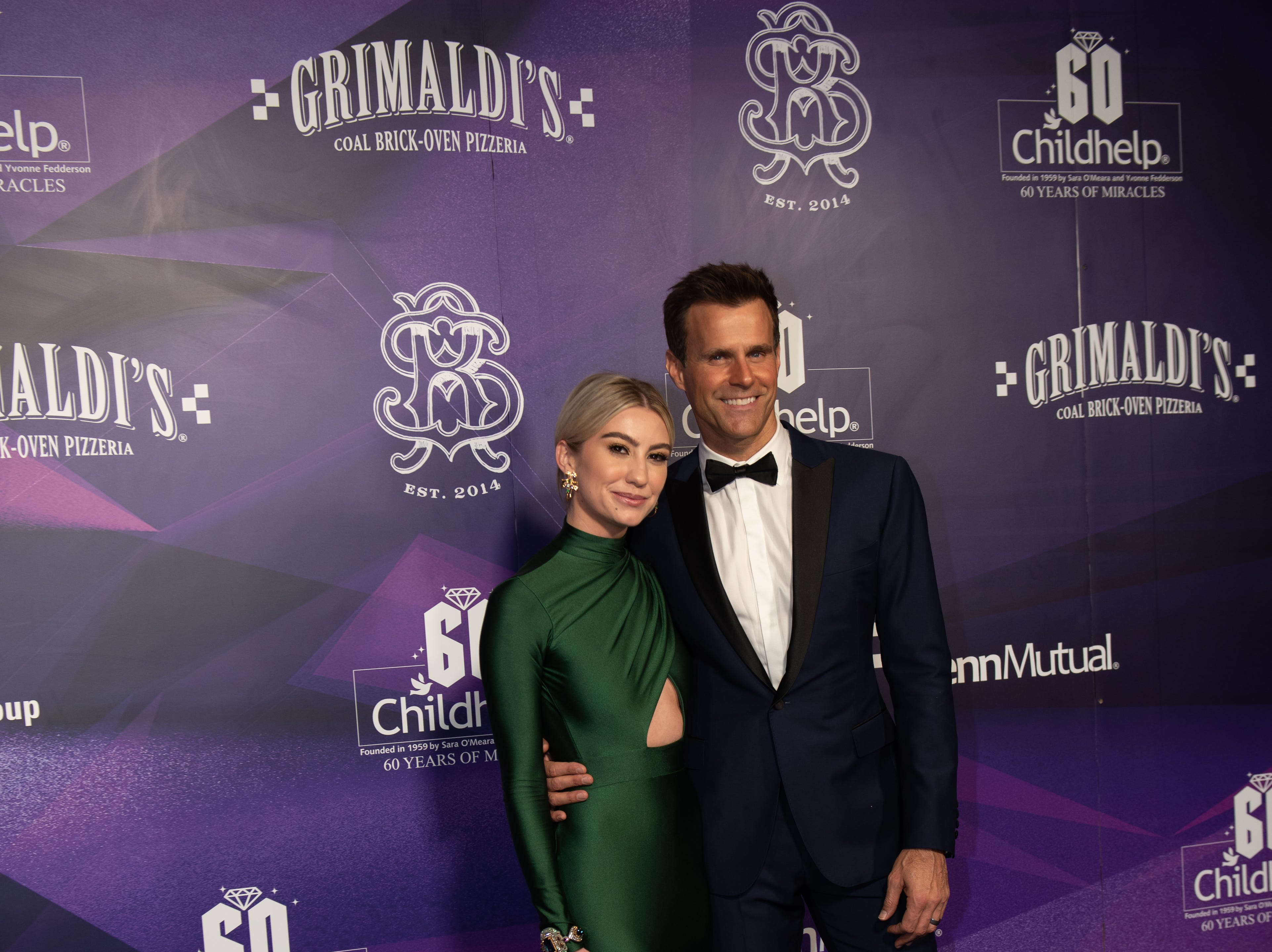 Celebrity Ambassadors Chelsea Kane and Cameron Mathison attended the Childhelp Drive the Dream Gala on February 2, 2019.