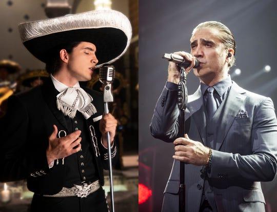 Alex Fernández (izq) no descarta grabar un tema con su padre Alejandro Fernández (der).