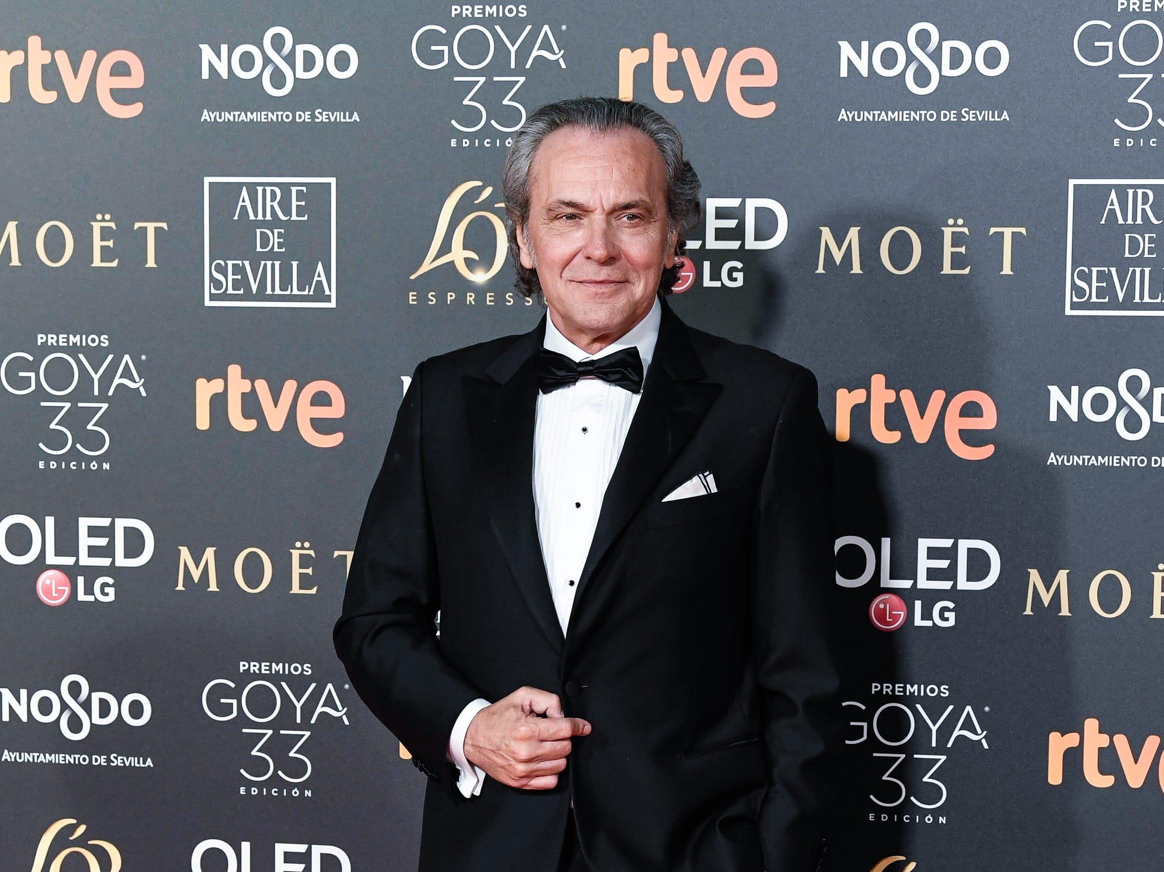 José Coronado asiste a la 33ª edición de los Premios de Cine Goya en el Palacio de Congresos y Exposiciones FIBES el 2 de febrero de 2019 en Sevilla, España.