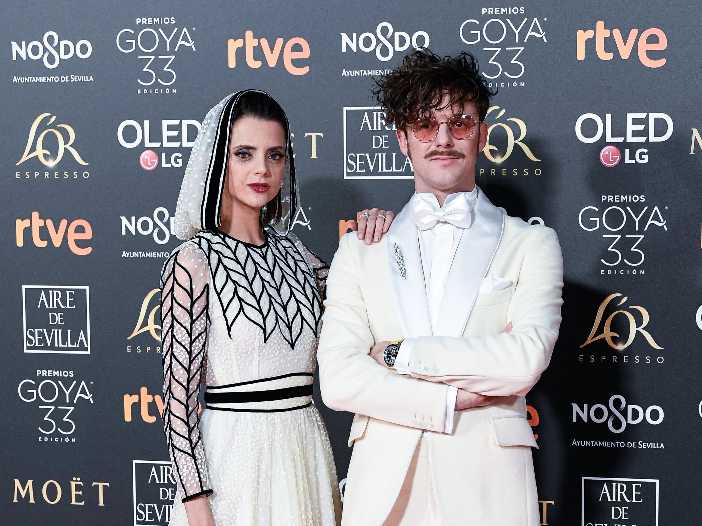Macarena Gómez y Aldo Comas asisten a la 33ª edición de los Premios de Cine Goya en el Palacio de Congresos y Exposiciones FIBES el 2 de febrero de 2019 en Sevilla, España.