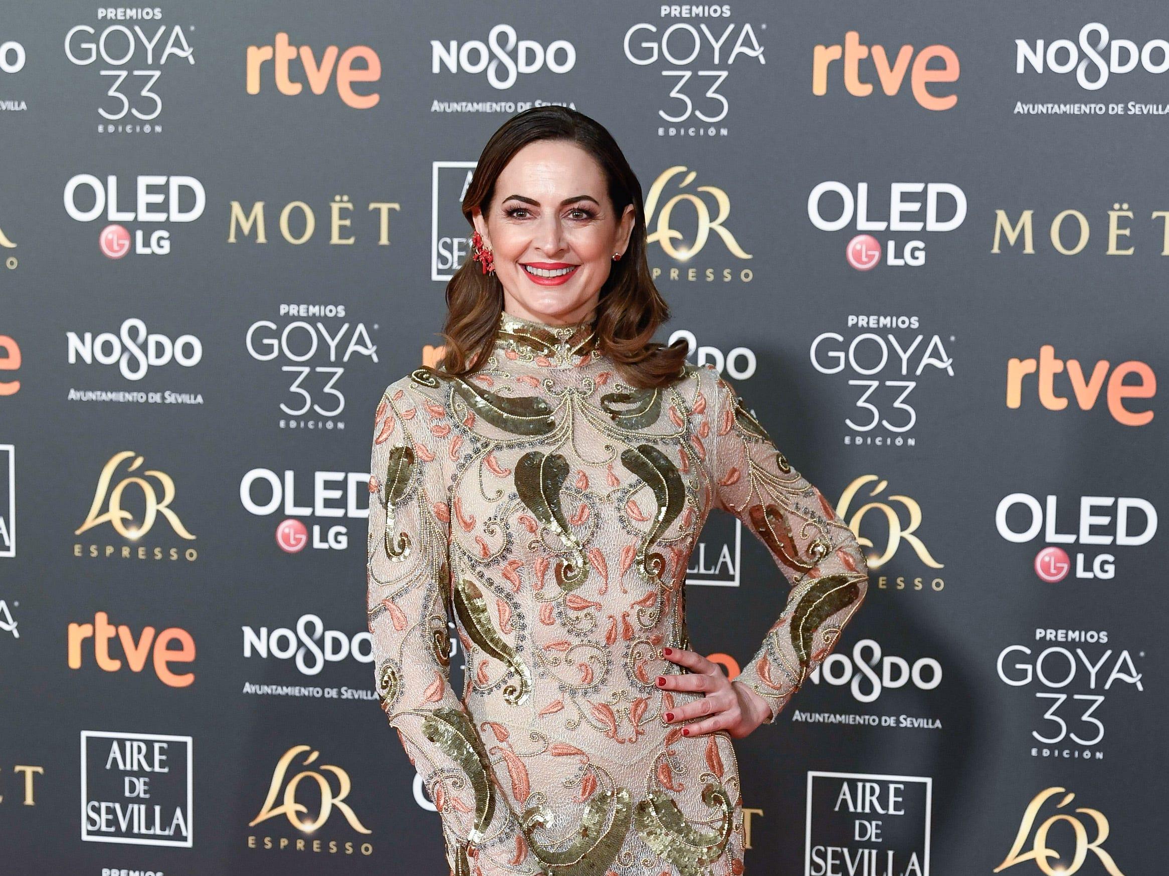 Cuca Escribano asiste a la 33ª edición de los Premios de Cine Goya en el Palacio de Congresos y Exposiciones FIBES el 2 de febrero de 2019 en Sevilla, España.