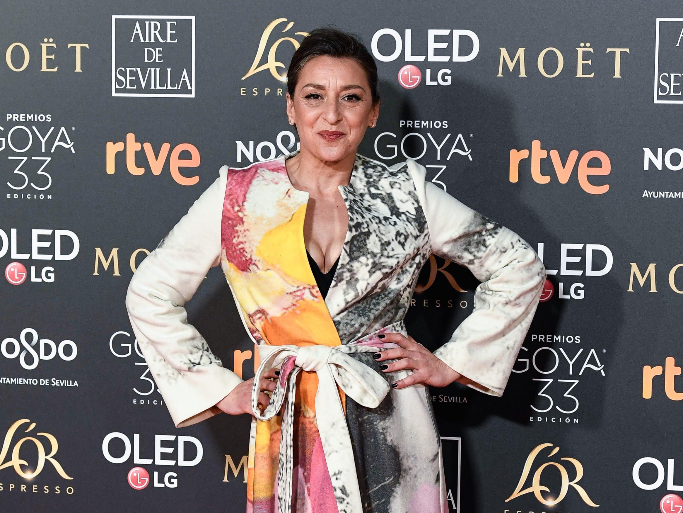 Mariola Fuentes asiste a la 33ª edición de los Premios de Cine Goya en el Palacio de Congresos y Exposiciones FIBES el 2 de febrero de 2019 en Sevilla, España.