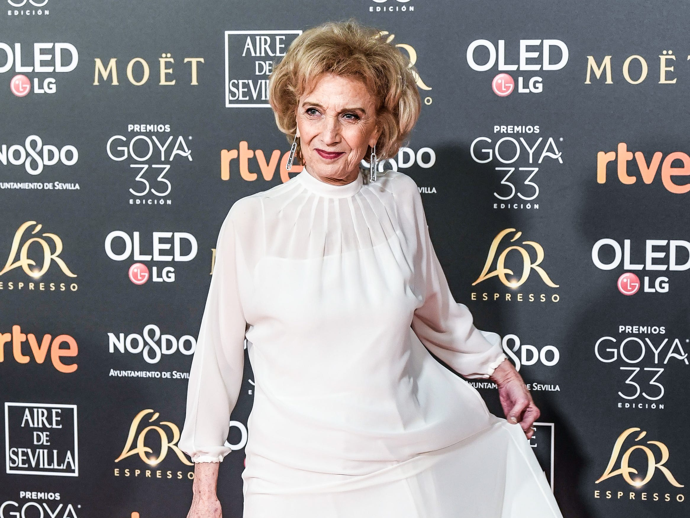 Marisa Paredes asiste a la 33ª edición de los Premios de Cine Goya en el Palacio de Congresos y Exposiciones FIBES el 2 de febrero de 2019 en Sevilla, España.