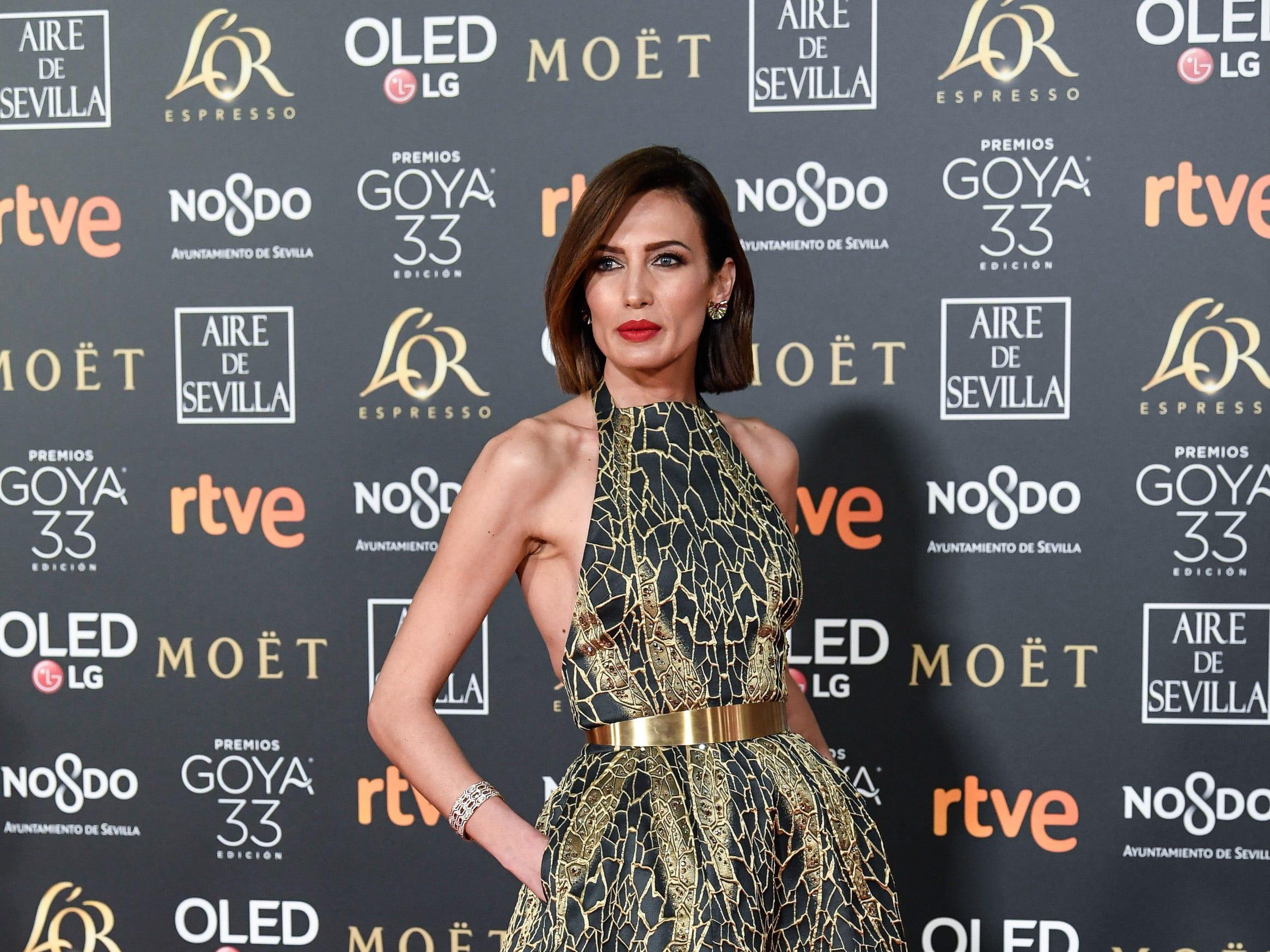 Nieves Alvarez asiste a la 33ª edición de los Premios de Cine Goya en el Palacio de Congresos y Exposiciones FIBES el 2 de febrero de 2019 en Sevilla, España.
