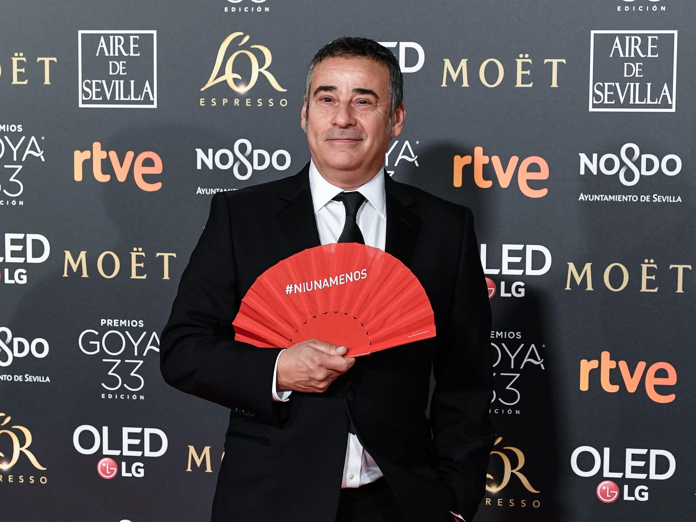Eduardo Fernández asiste a la 33ª edición de los Premios de Cine Goya en el Palacio de Congresos y Exposiciones FIBES el 2 de febrero de 2019 en Sevilla, España.