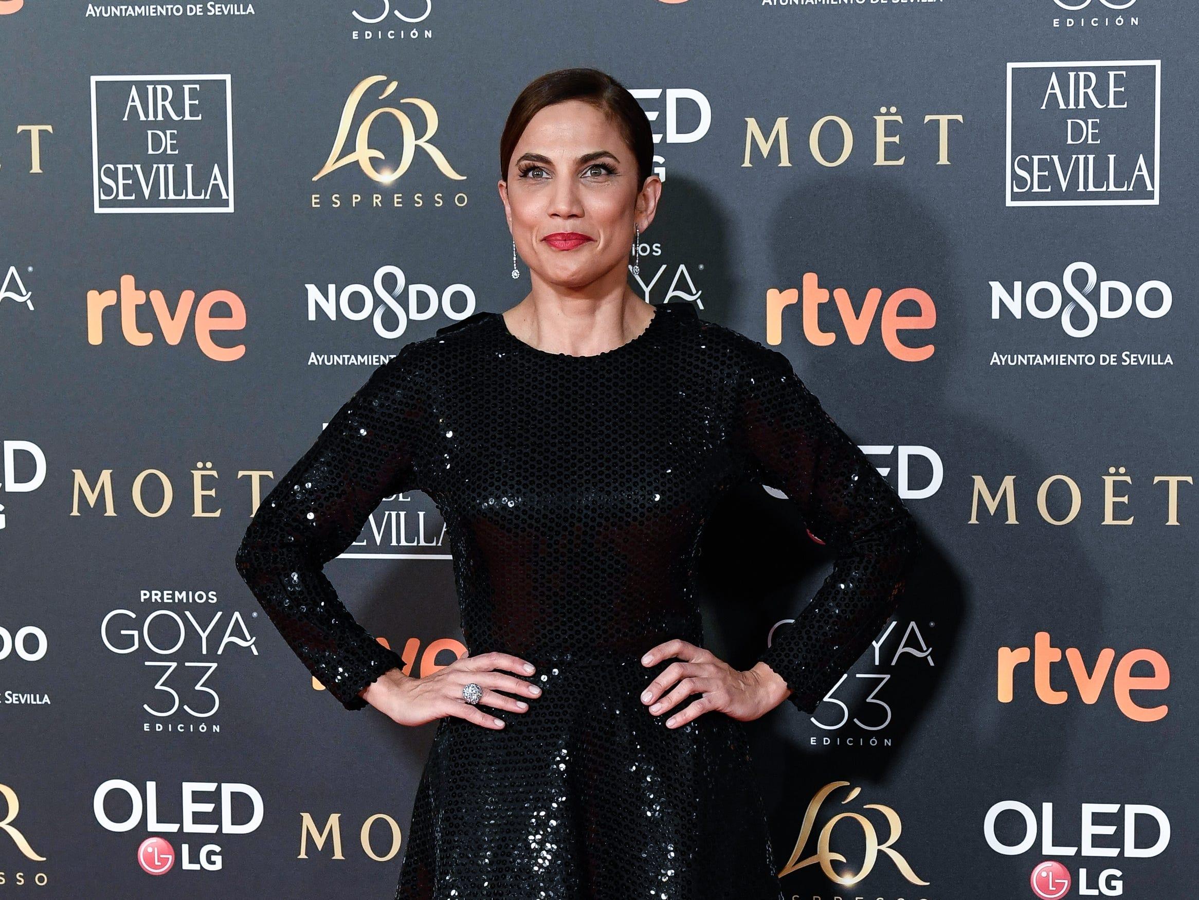 Toni Acosta asiste a la 33ª edición de los Premios de Cine Goya en el Palacio de Congresos y Exposiciones FIBES el 2 de febrero de 2019 en Sevilla, España.