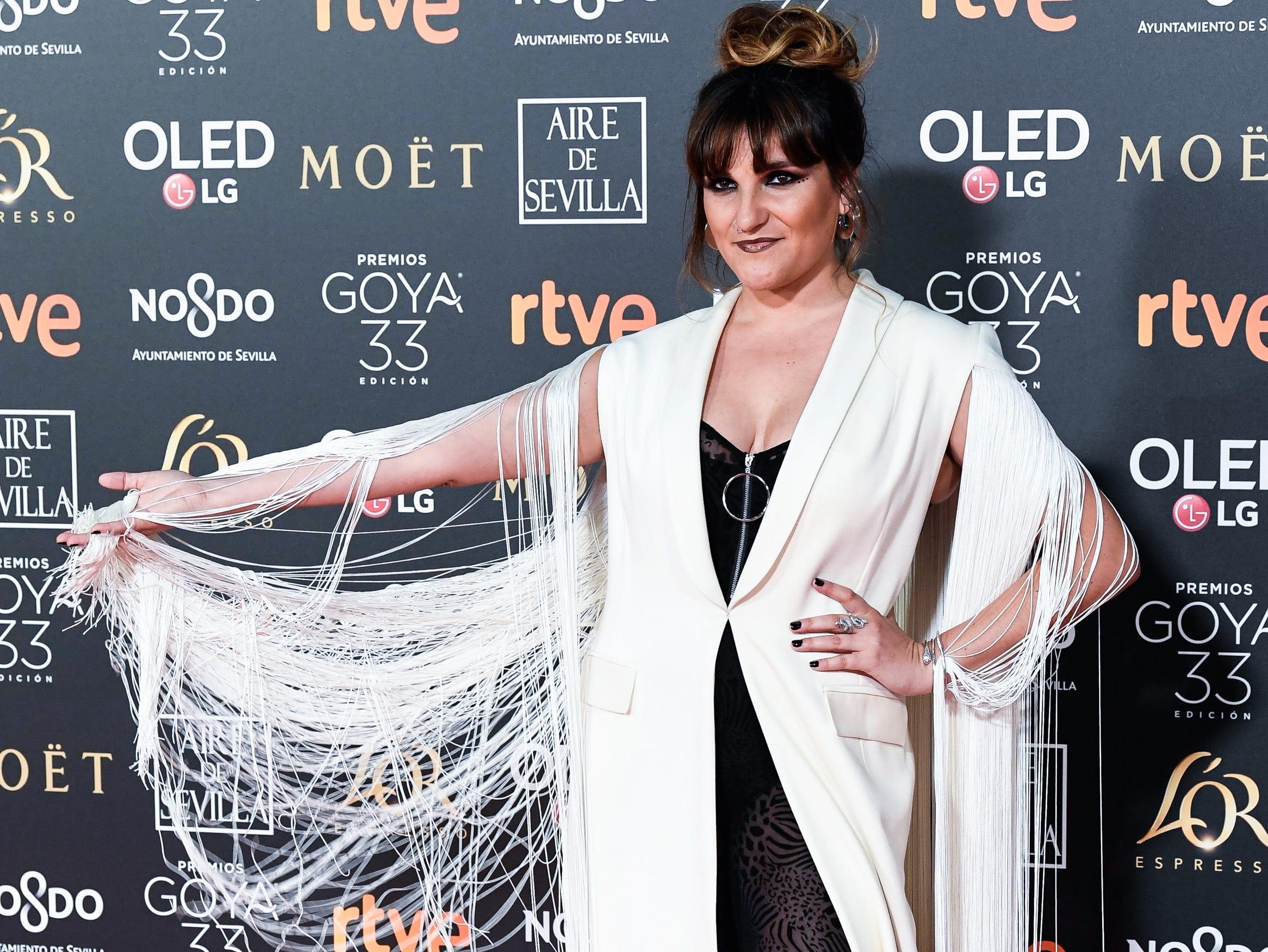 Rozalen asiste a la 33ª edición de los Premios de Cine Goya en el Palacio de Congresos y Exposiciones FIBES el 2 de febrero de 2019 en Sevilla, España.