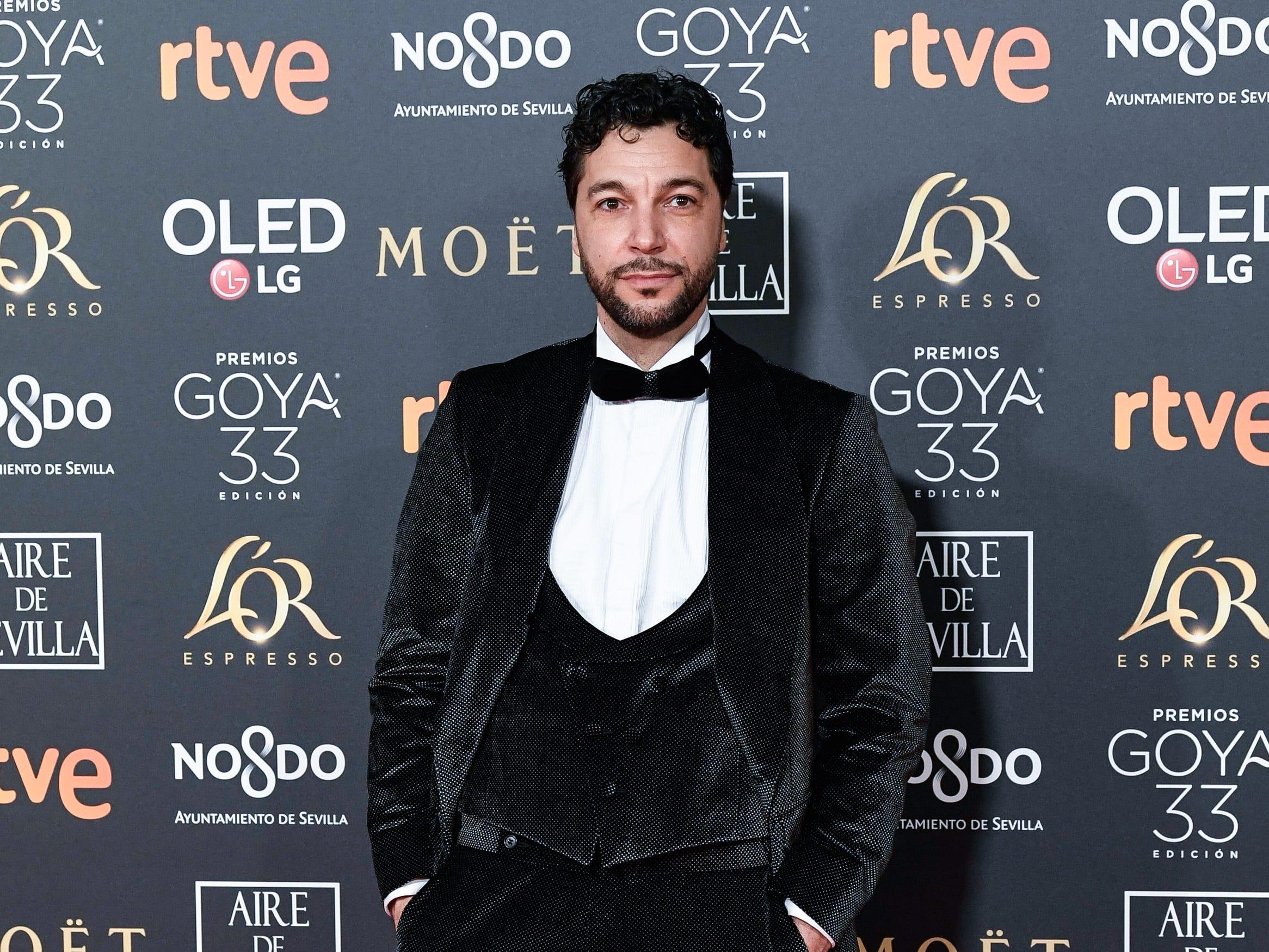 Iván Palomares asiste a la 33ª edición de los Premios de Cine Goya en el Palacio de Congresos y Exposiciones FIBES el 2 de febrero de 2019 en Sevilla, España.