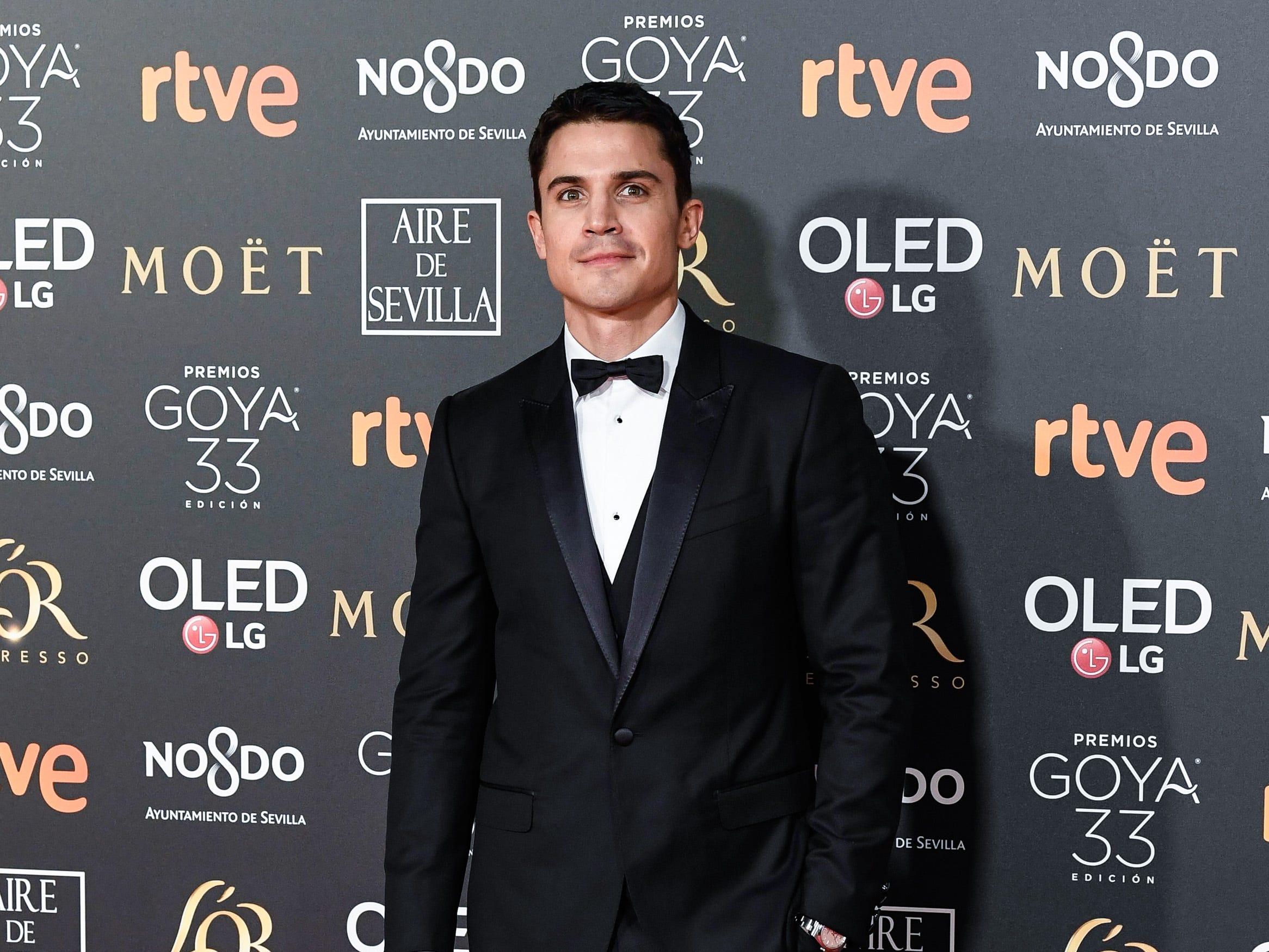 Alex González asiste a la 33ª edición de los Premios de Cine Goya en el Palacio de Congresos y Exposiciones FIBES el 2 de febrero de 2019 en Sevilla, España.