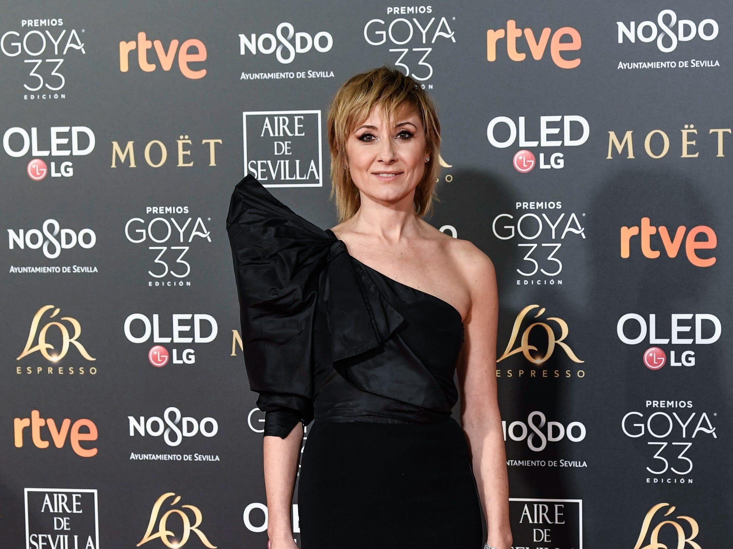 Nathalie Poza asiste a la 33ª edición de los Premios de Cine Goya en el Palacio de Congresos y Exposiciones FIBES el 2 de febrero de 2019 en Sevilla, España.