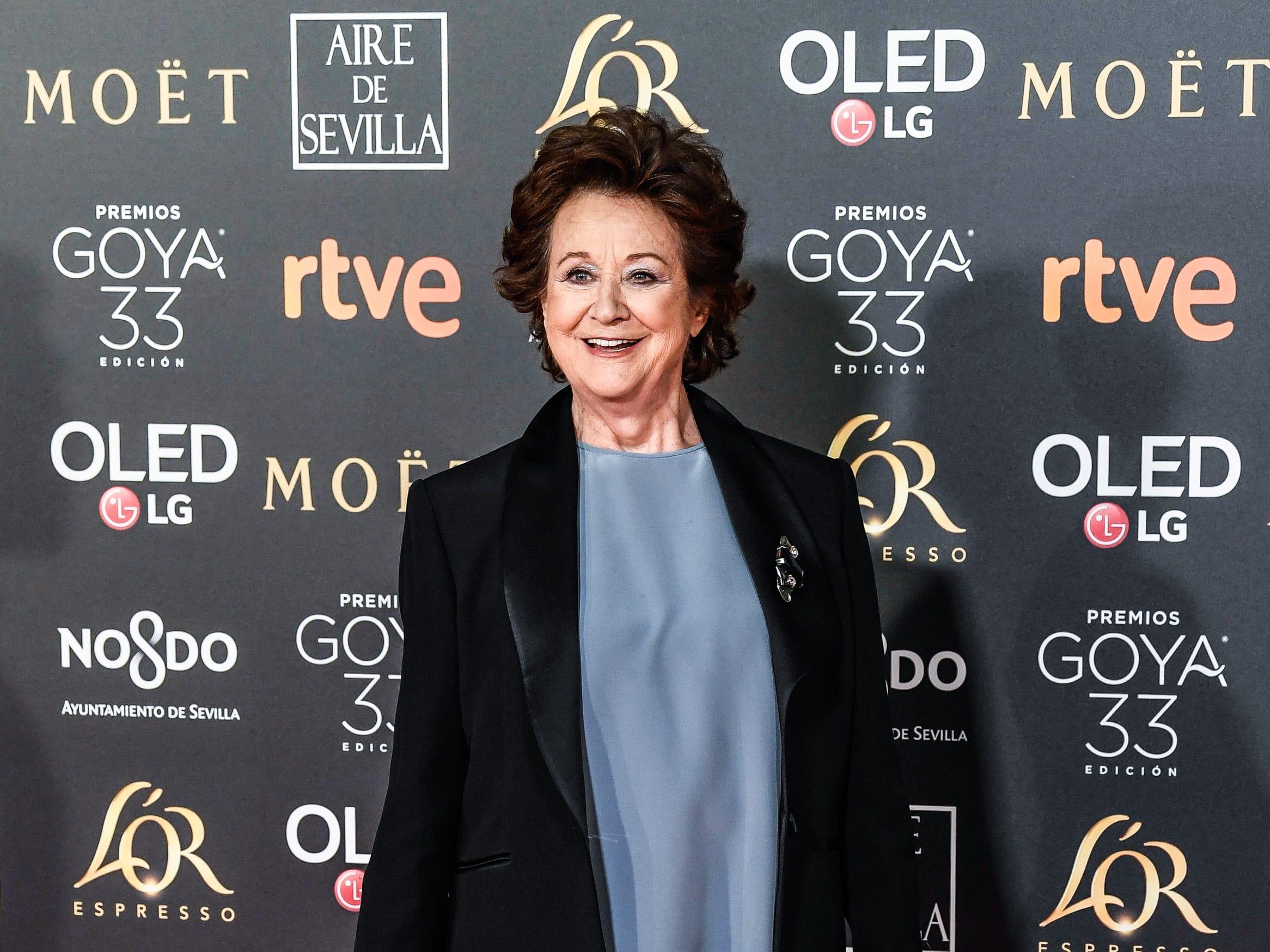Julieta Serrano asiste a la 33ª edición de los Premios de Cine Goya en el Palacio de Congresos y Exposiciones FIBES el 2 de febrero de 2019 en Sevilla, España.