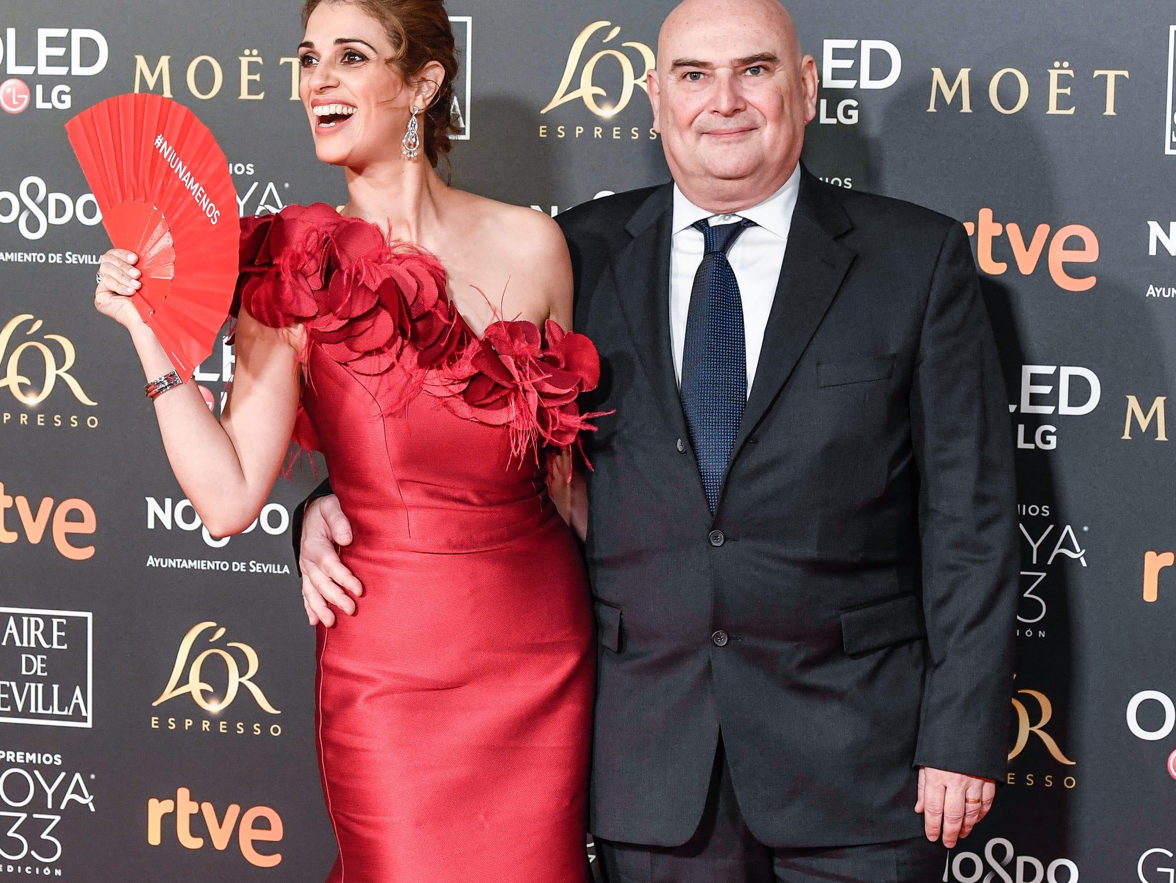 Ruth Gabriel y Antonio Saura asiste a la 33ª edición de los Premios de Cine Goya en el Palacio de Congresos y Exposiciones FIBES el 2 de febrero de 2019 en Sevilla, España.