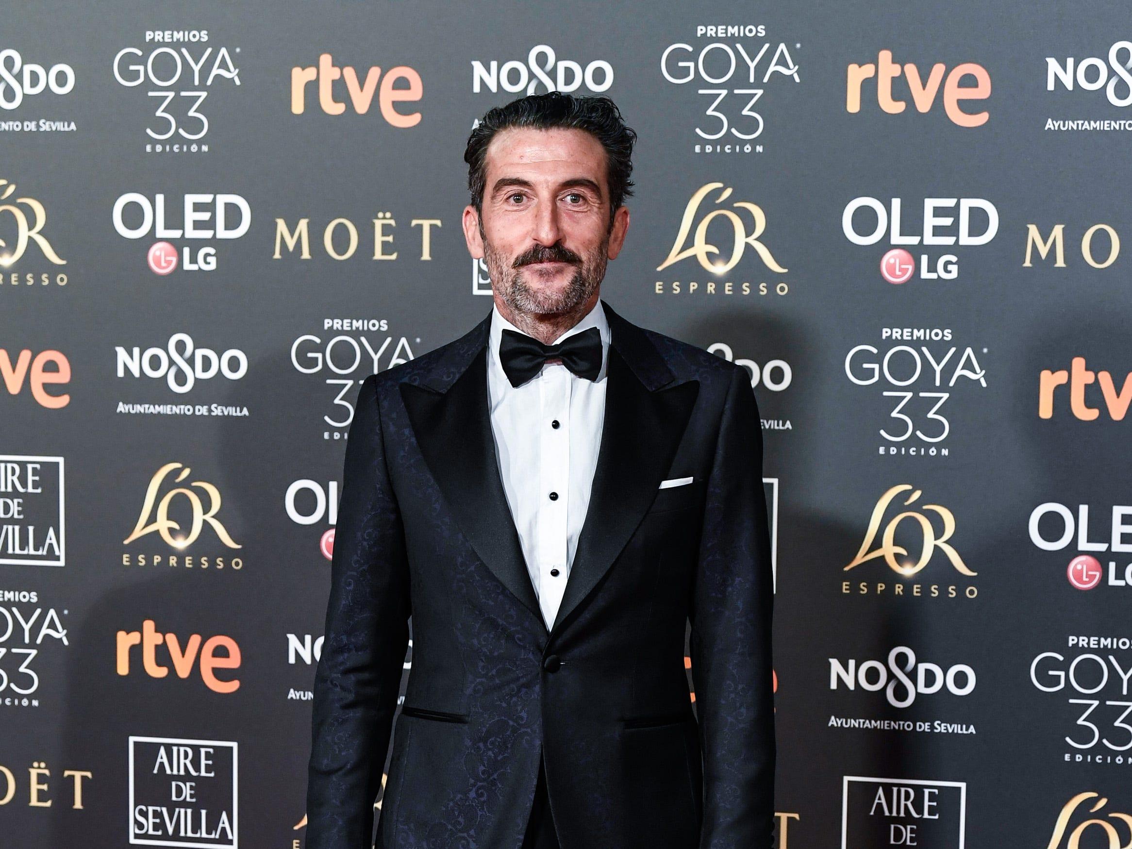 Luis Zahera asiste a la 33ª edición de los Premios de Cine Goya en el Palacio de Congresos y Exposiciones FIBES el 2 de febrero de 2019 en Sevilla, España.