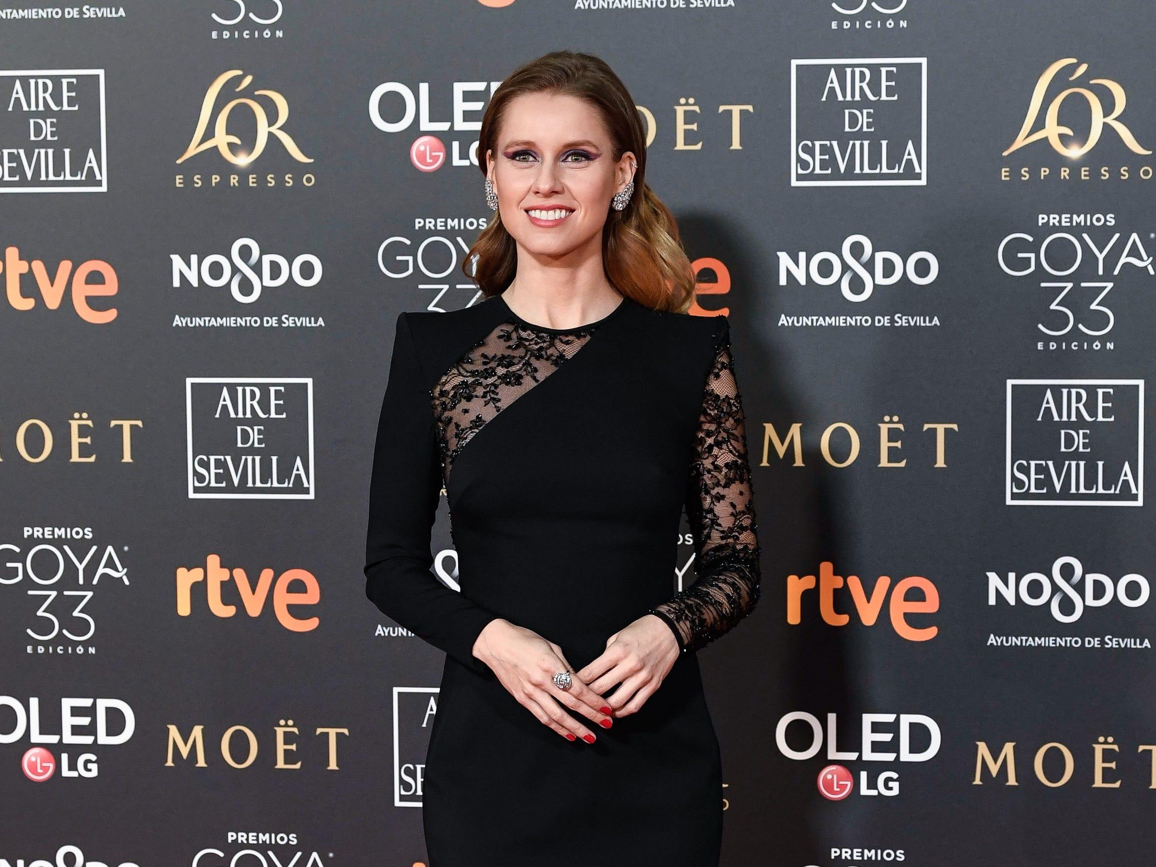 Manuela Velles asiste a la 33ª edición de los Premios de Cine Goya en el Palacio de Congresos y Exposiciones FIBES el 2 de febrero de 2019 en Sevilla, España.