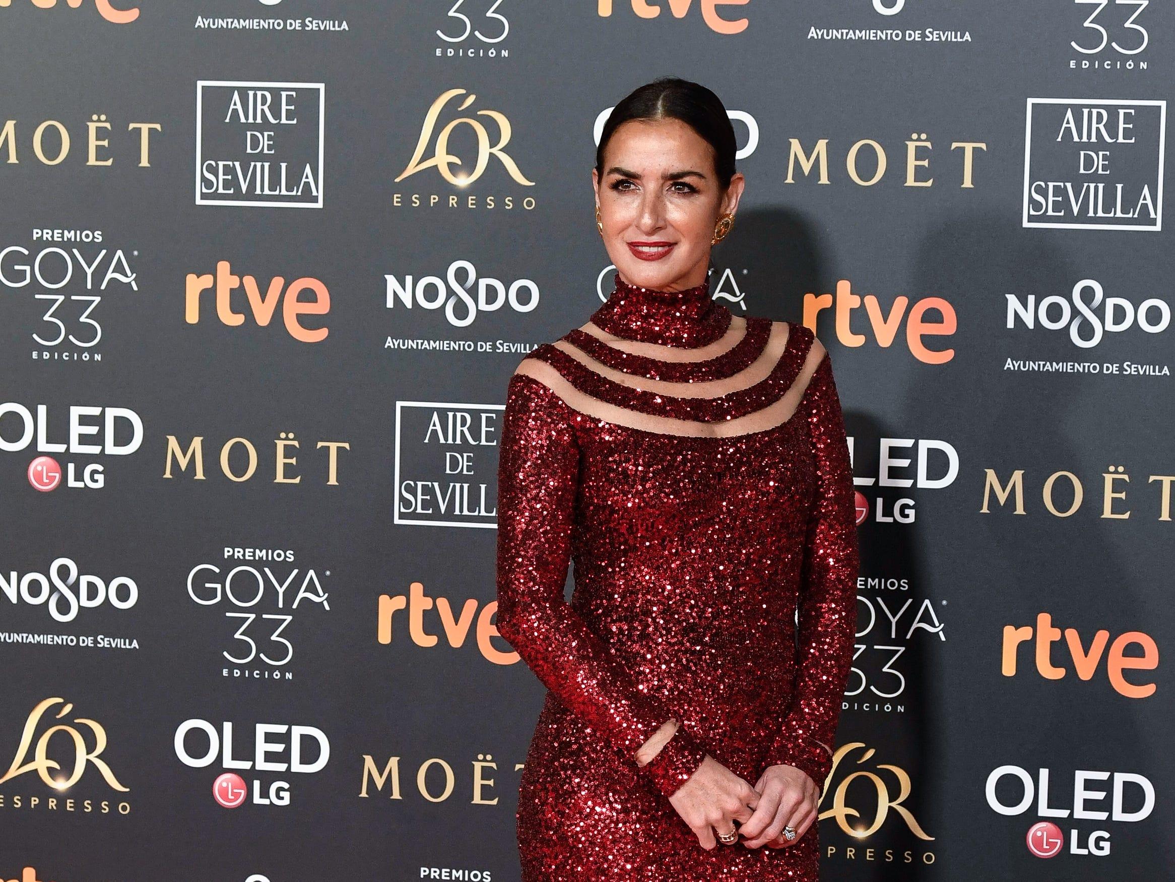 Belén López asiste a la 33ª edición de los Premios de Cine Goya en el Palacio de Congresos y Exposiciones FIBES el 2 de febrero de 2019 en Sevilla, España.