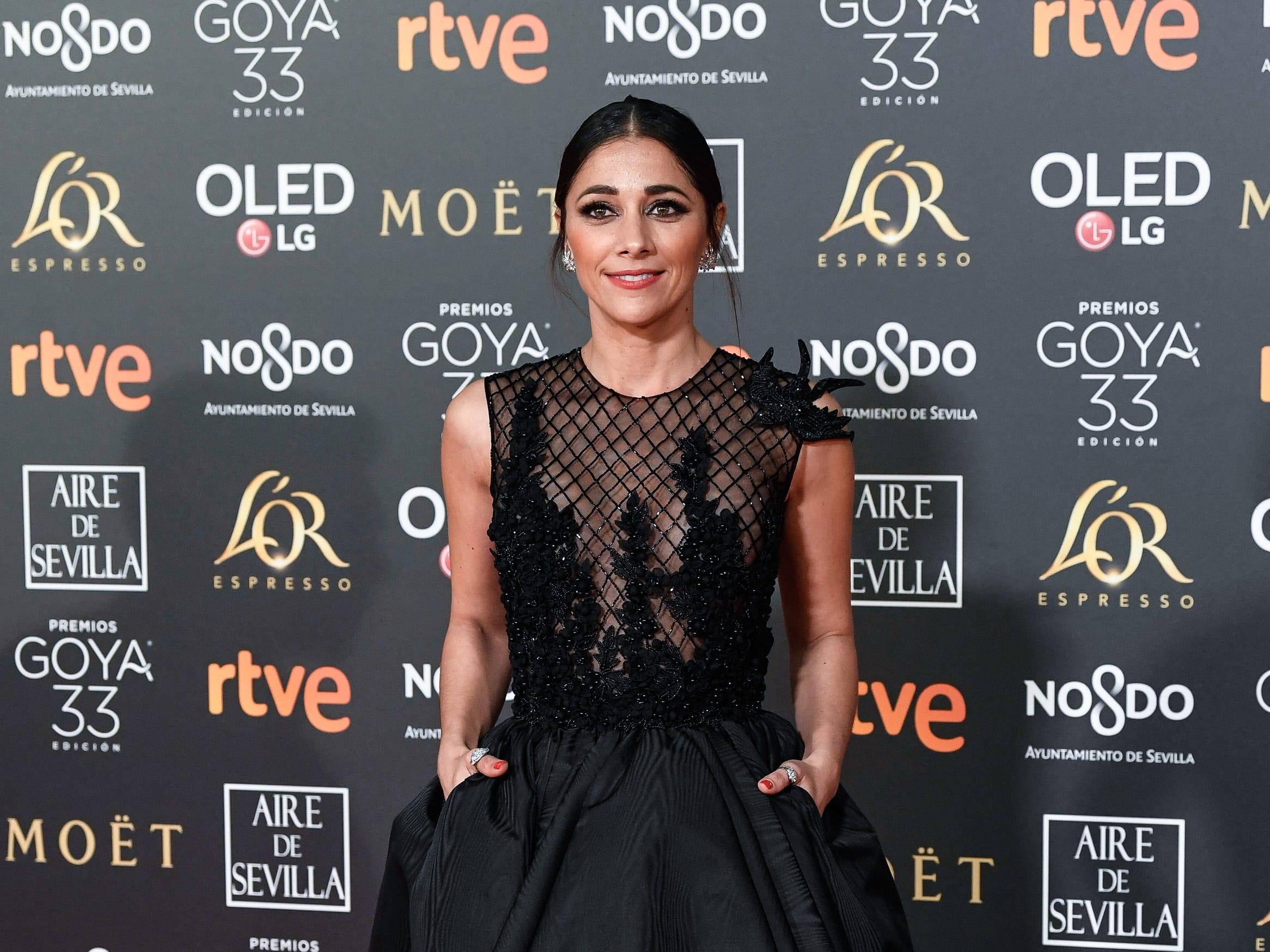 Mariam Hernández asiste a la 33ª edición de los Premios de Cine Goya en el Palacio de Congresos y Exposiciones FIBES el 2 de febrero de 2019 en Sevilla, España.