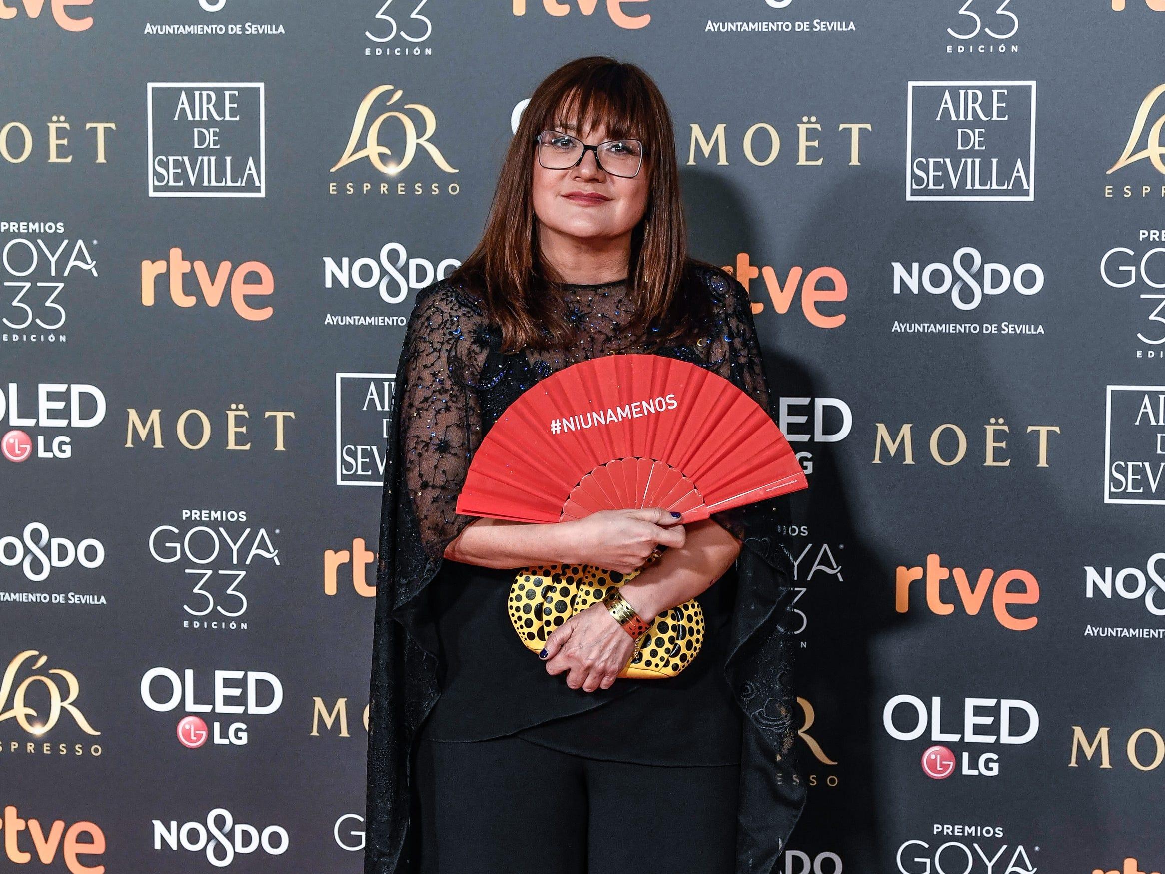 Isabel Coixet asiste a la 33ª edición de los Premios de Cine Goya en el Palacio de Congresos y Exposiciones FIBES el 2 de febrero de 2019 en Sevilla, España.