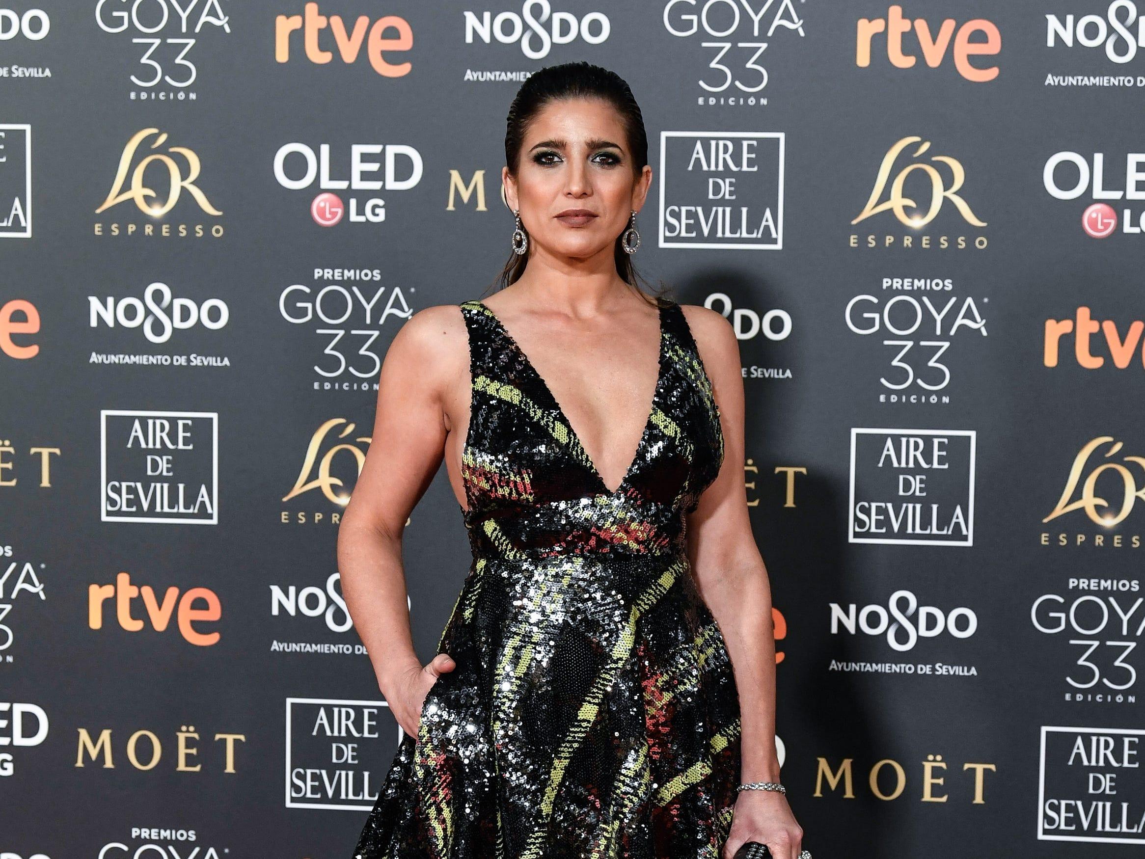 Lucía Jiménez asiste a la 33ª edición de los Premios de Cine Goya en el Palacio de Congresos y Exposiciones FIBES el 2 de febrero de 2019 en Sevilla, España.