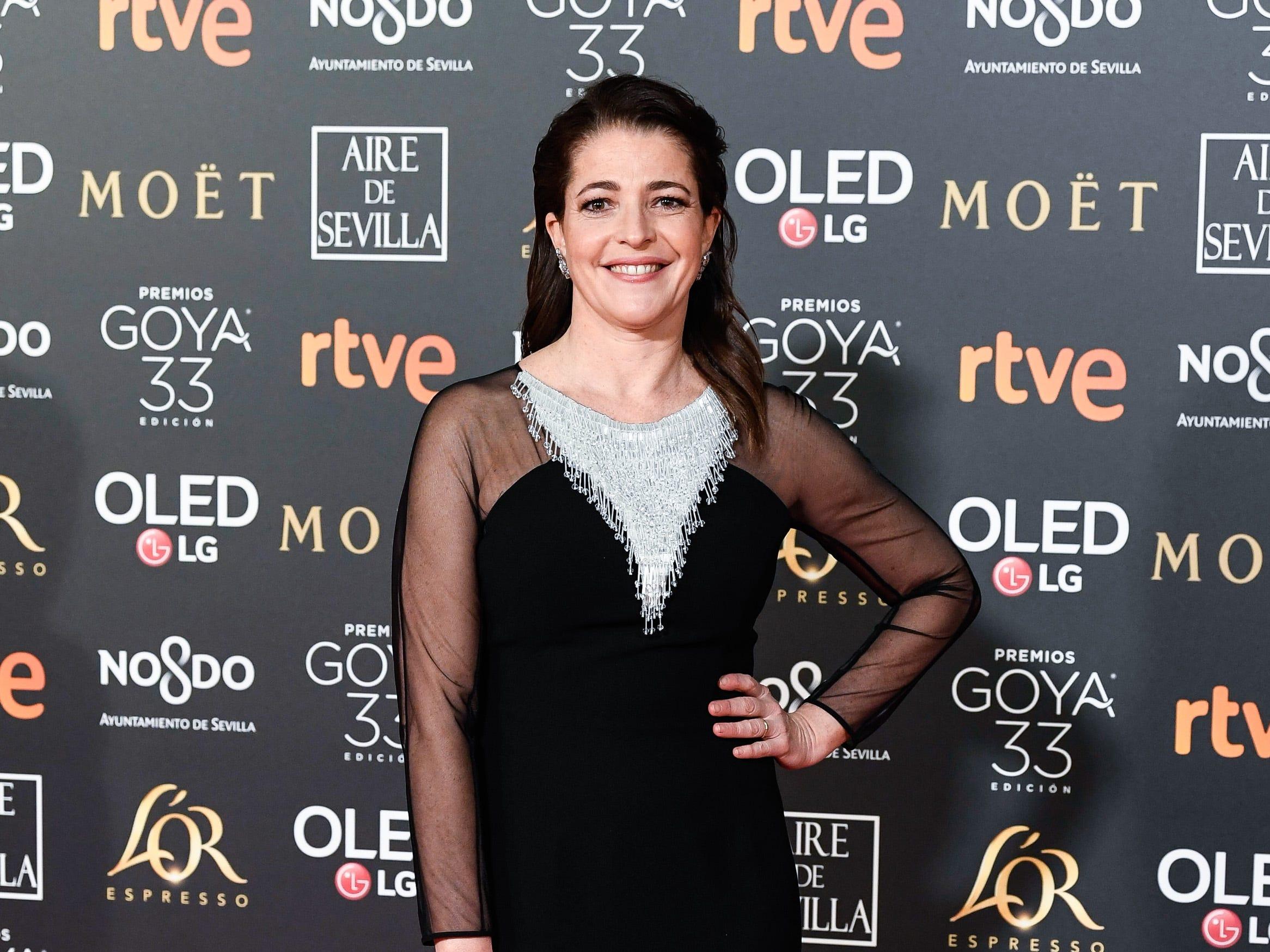 Nora Navas asiste a la 33ª edición de los Premios de Cine Goya en el Palacio de Congresos y Exposiciones FIBES el 2 de febrero de 2019 en Sevilla, España.
