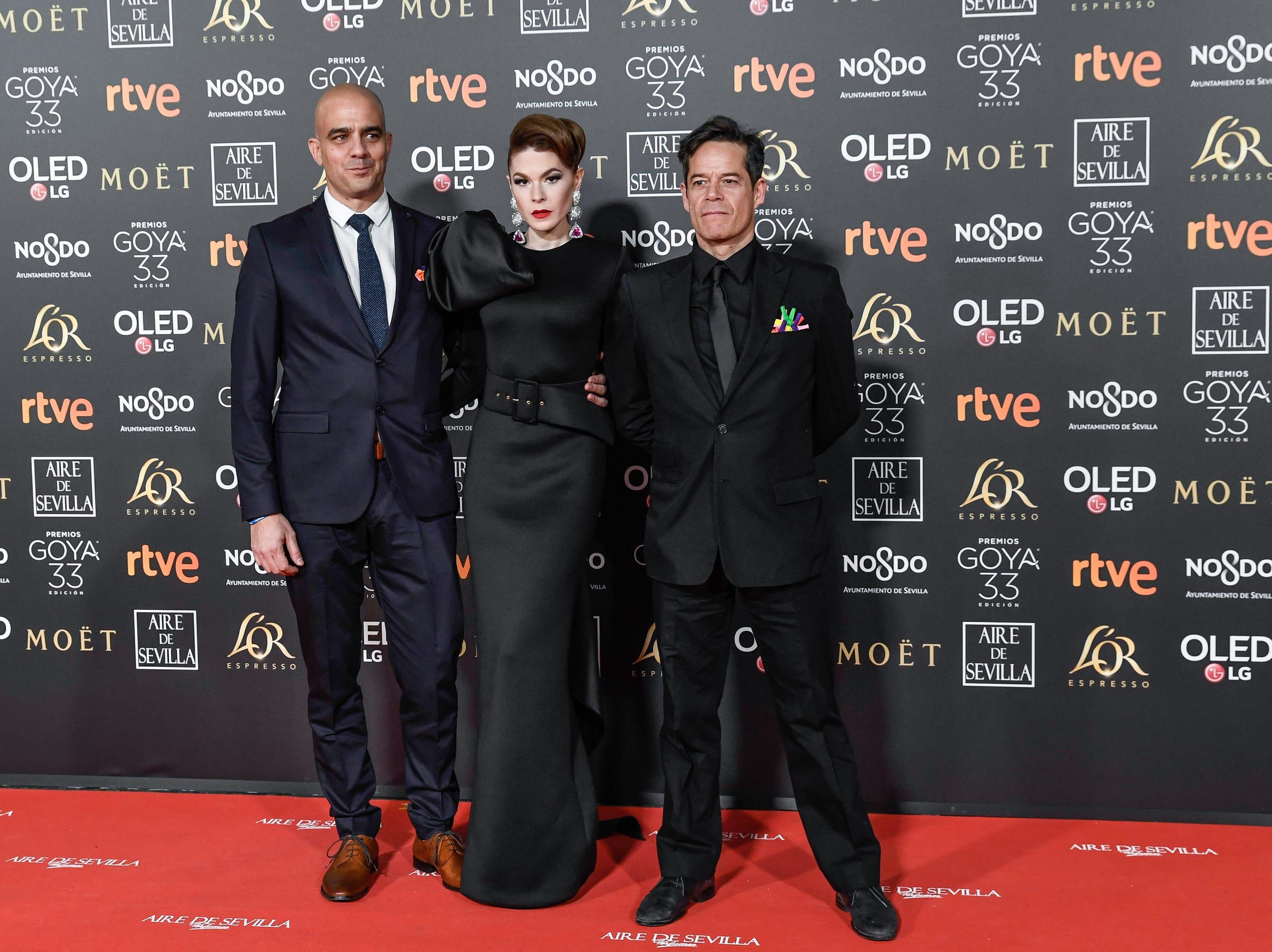 Jorge Sanz (der) asiste a la 33ª edición de los Premios de Cine Goya en el Palacio de Congresos y Exposiciones FIBES el 2 de febrero de 2019 en Sevilla, España.