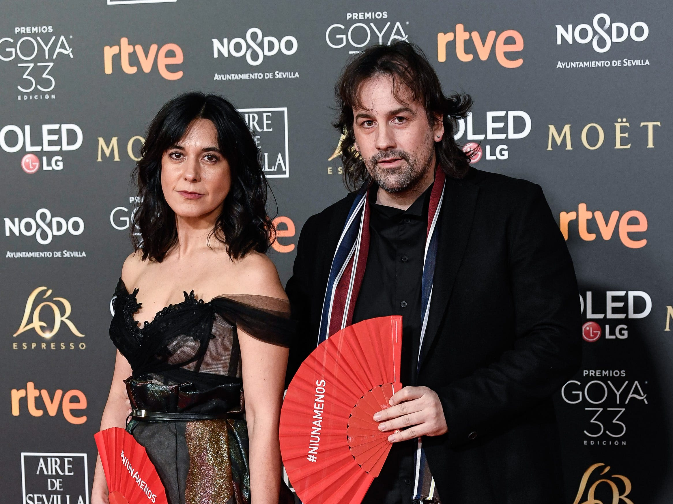 Isa Campo y Isaki Lacuesta asiste a la 33ª edición de los Premios de Cine Goya en el Palacio de Congresos y Exposiciones FIBES el 2 de febrero de 2019 en Sevilla, España.