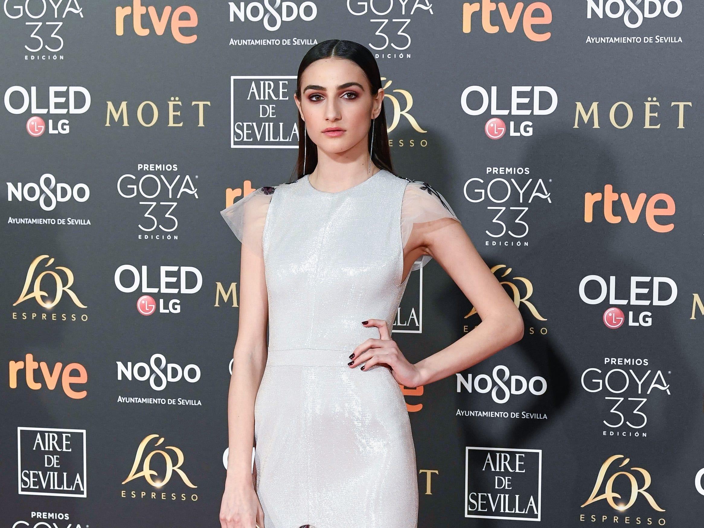 Sandra Escacena asiste a la 33ª edición de los Premios de Cine Goya en el Palacio de Congresos y Exposiciones FIBES el 2 de febrero de 2019 en Sevilla, España.