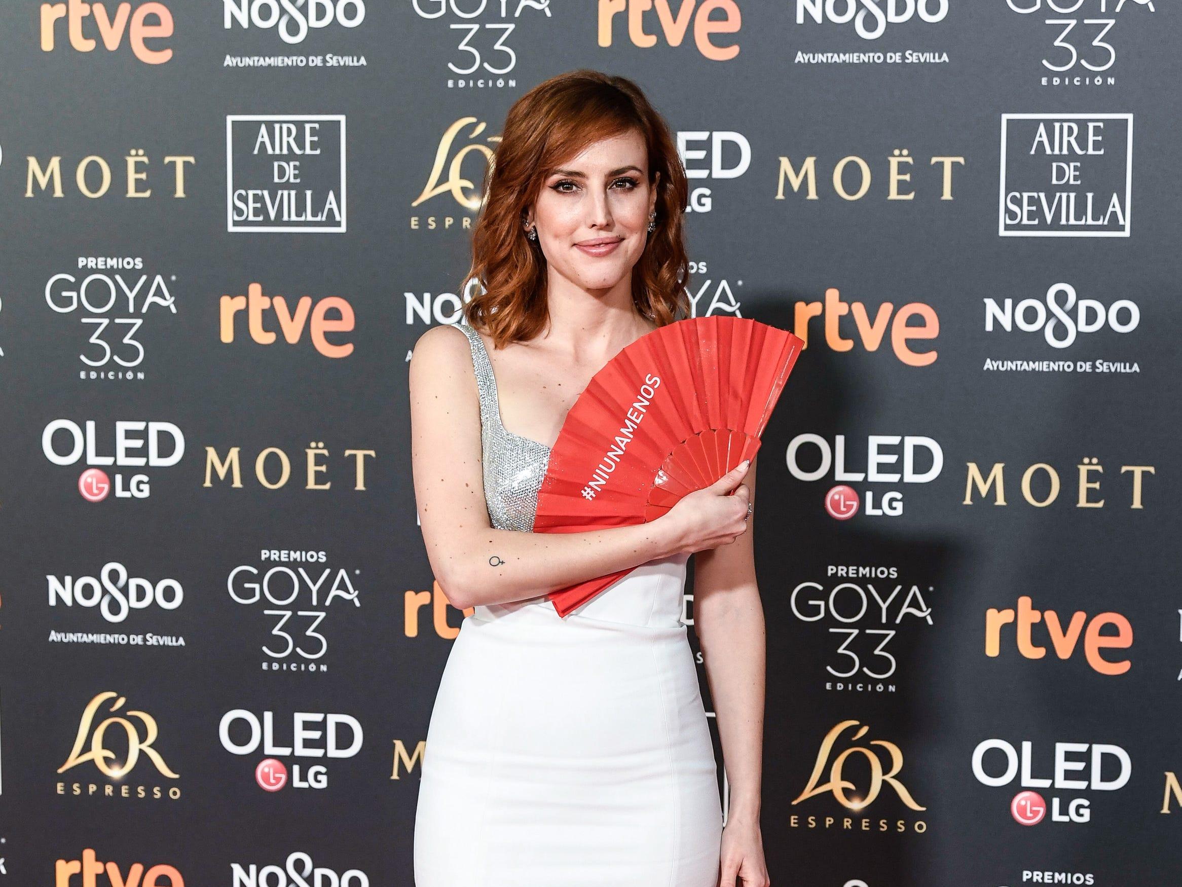 Natalia de Molina asiste a la 33ª edición de los Premios de Cine Goya en el Palacio de Congresos y Exposiciones FIBES el 2 de febrero de 2019 en Sevilla, España.